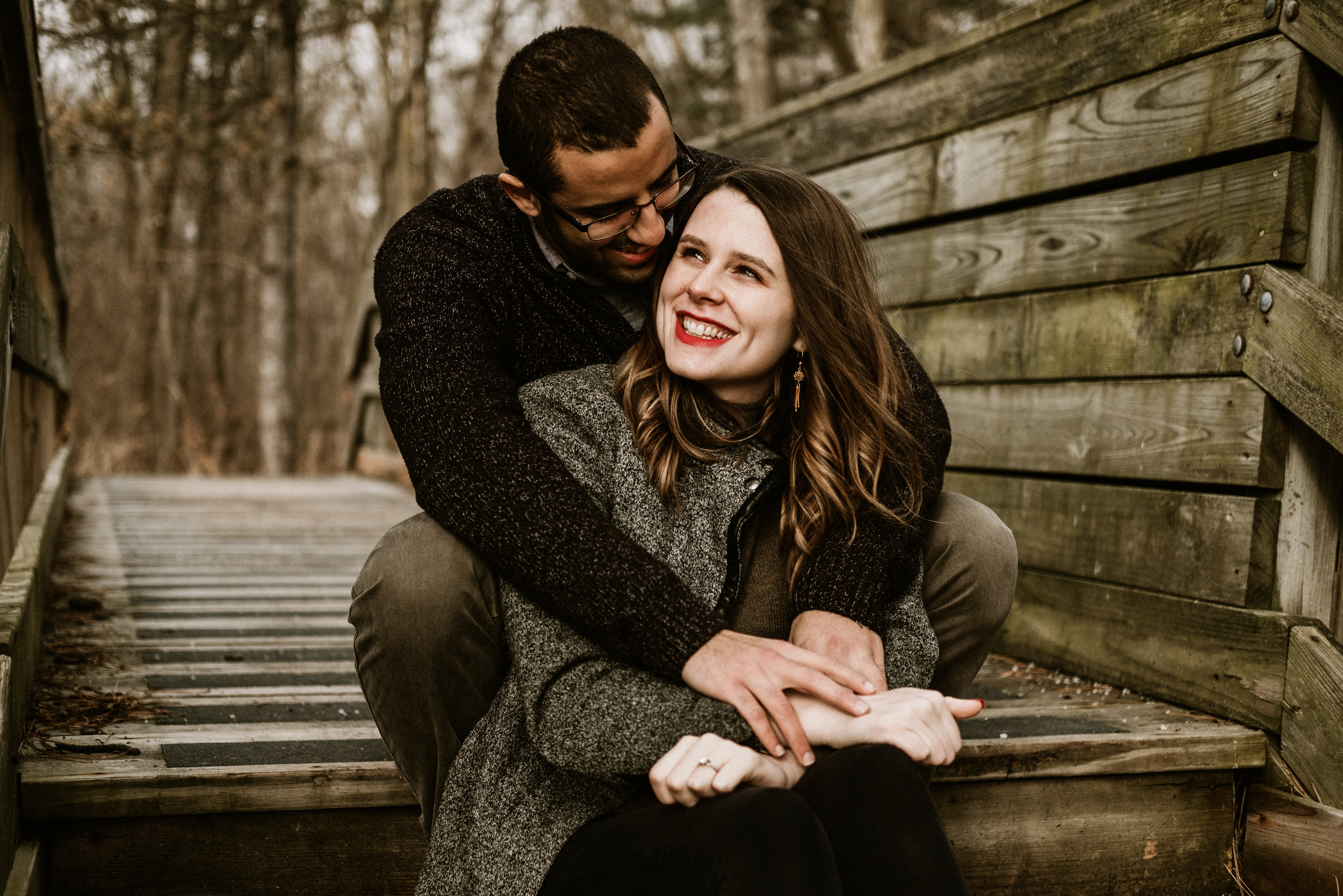 Melody And Mo - Fermilab Winter Engagement Session | Batavia, IL