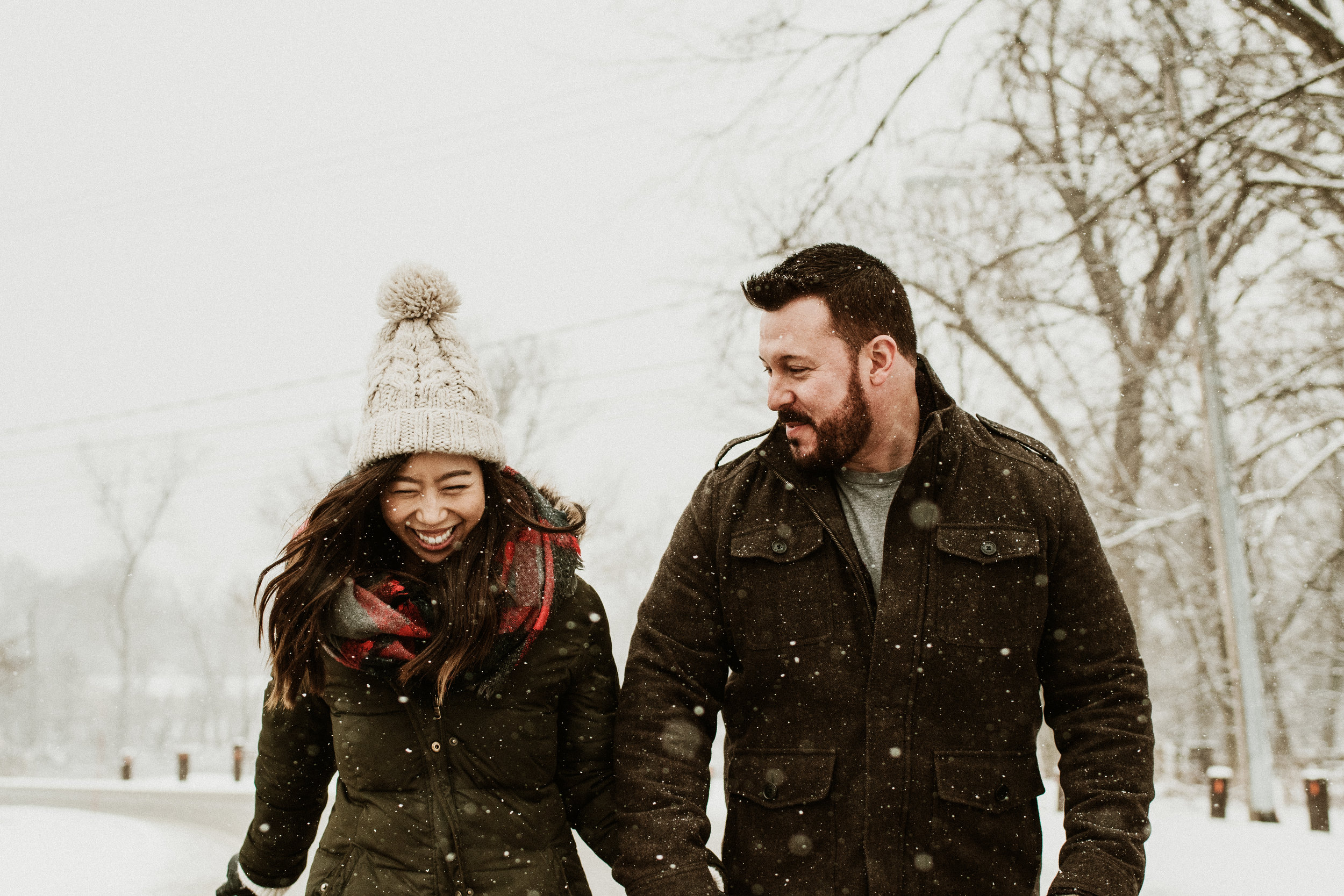 Cindy and David - Snowy Winter Engagement Session | Graue Mill & Museum | Oak Brook, IL