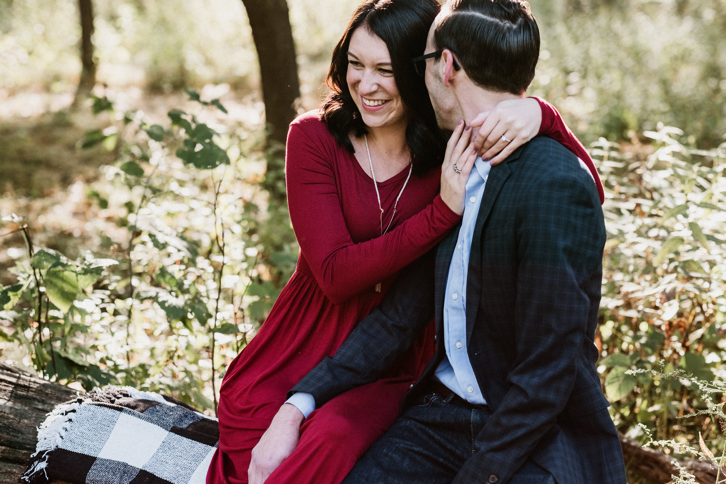 Abby and Alex - Lyman Woods Fall Engagement | Downer's Grove, IL