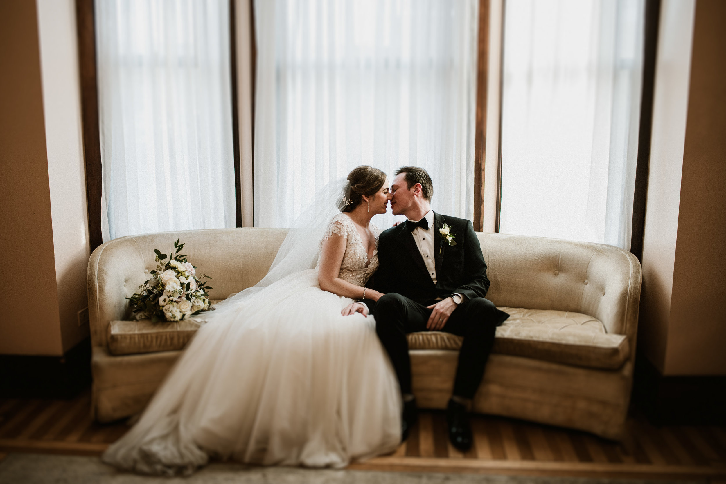 Brittany and Andrew - Elegant Vintage Wedding | The Haight, Elgin IL