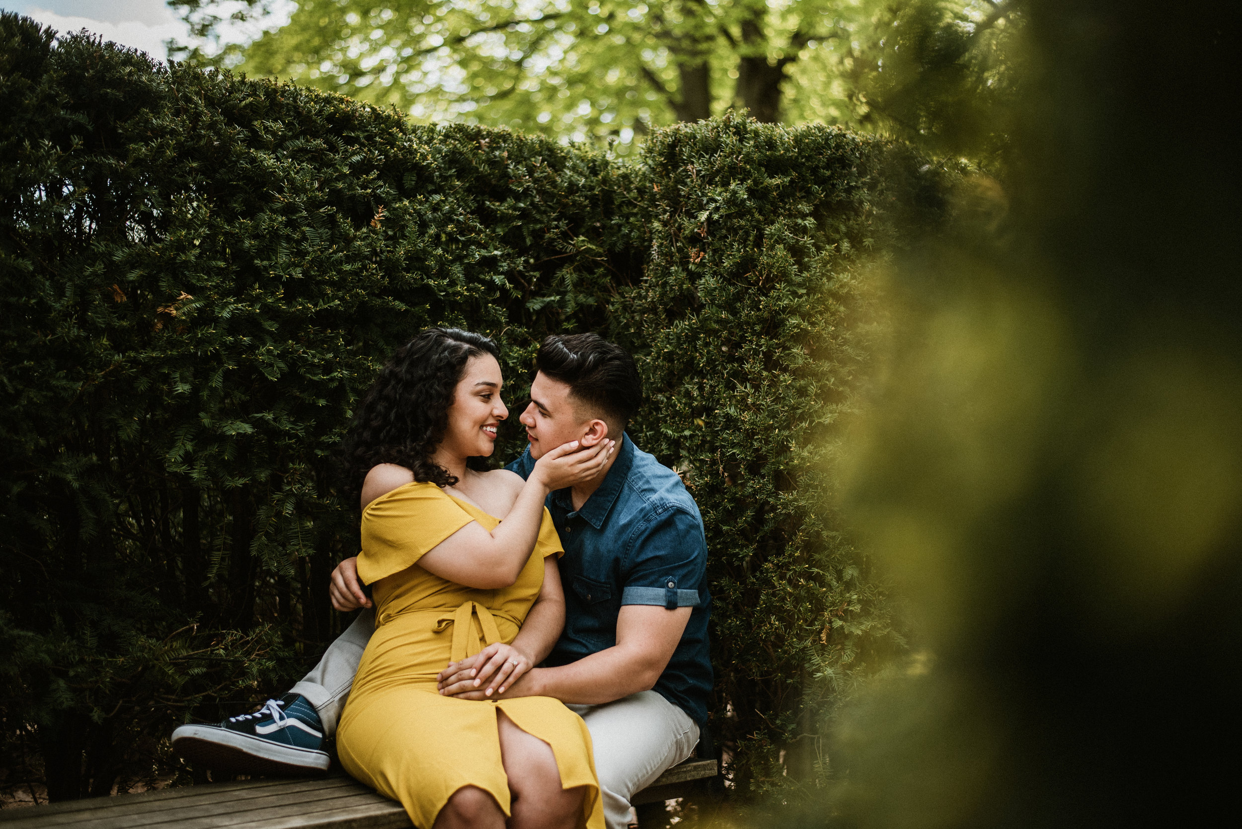 Elizabeth and Arik - Spring Engagement Session | The Morton Arboretum | Lisle, IL