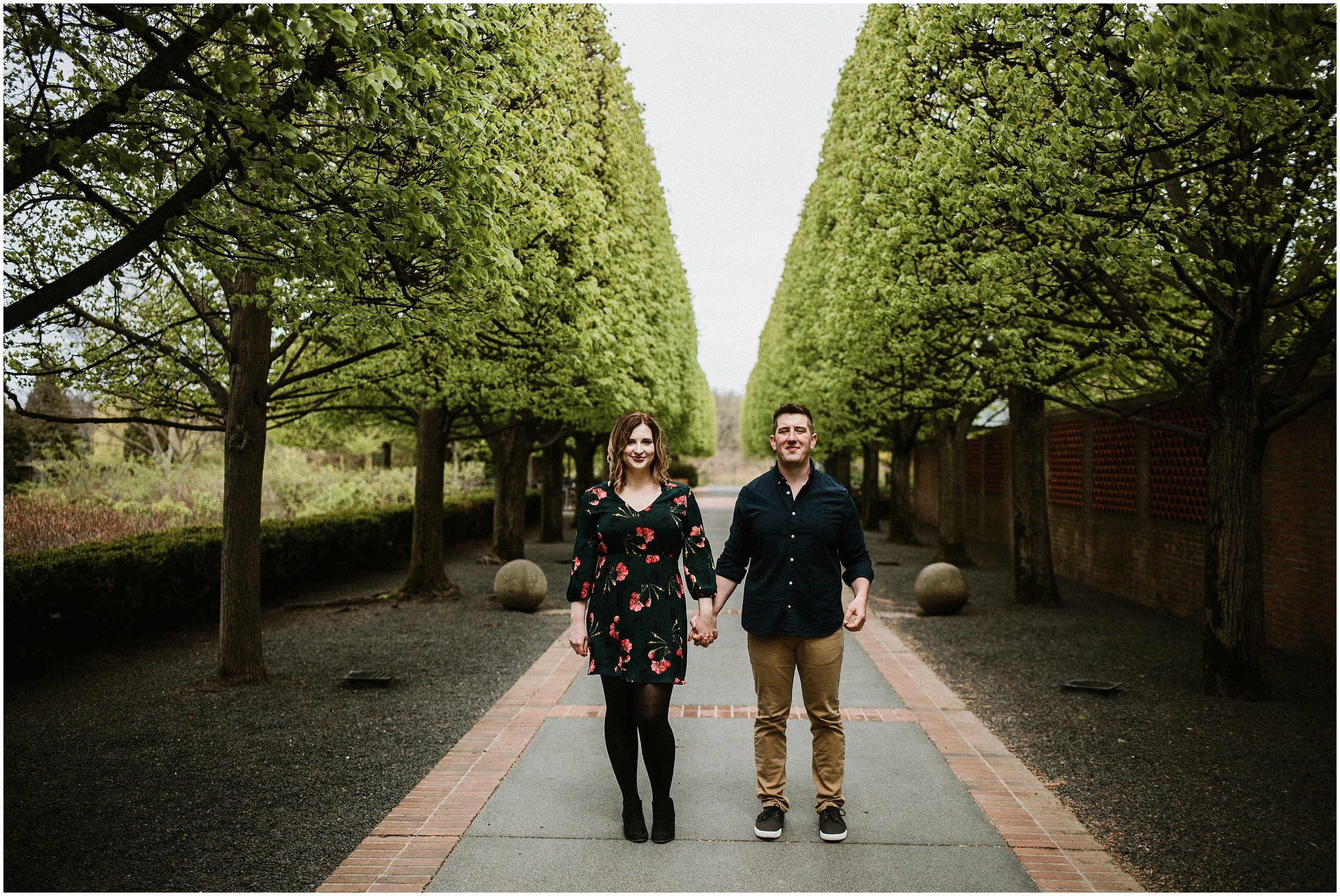 Melissa And David Spring Engagement Shoot Chicago Botanic Garden