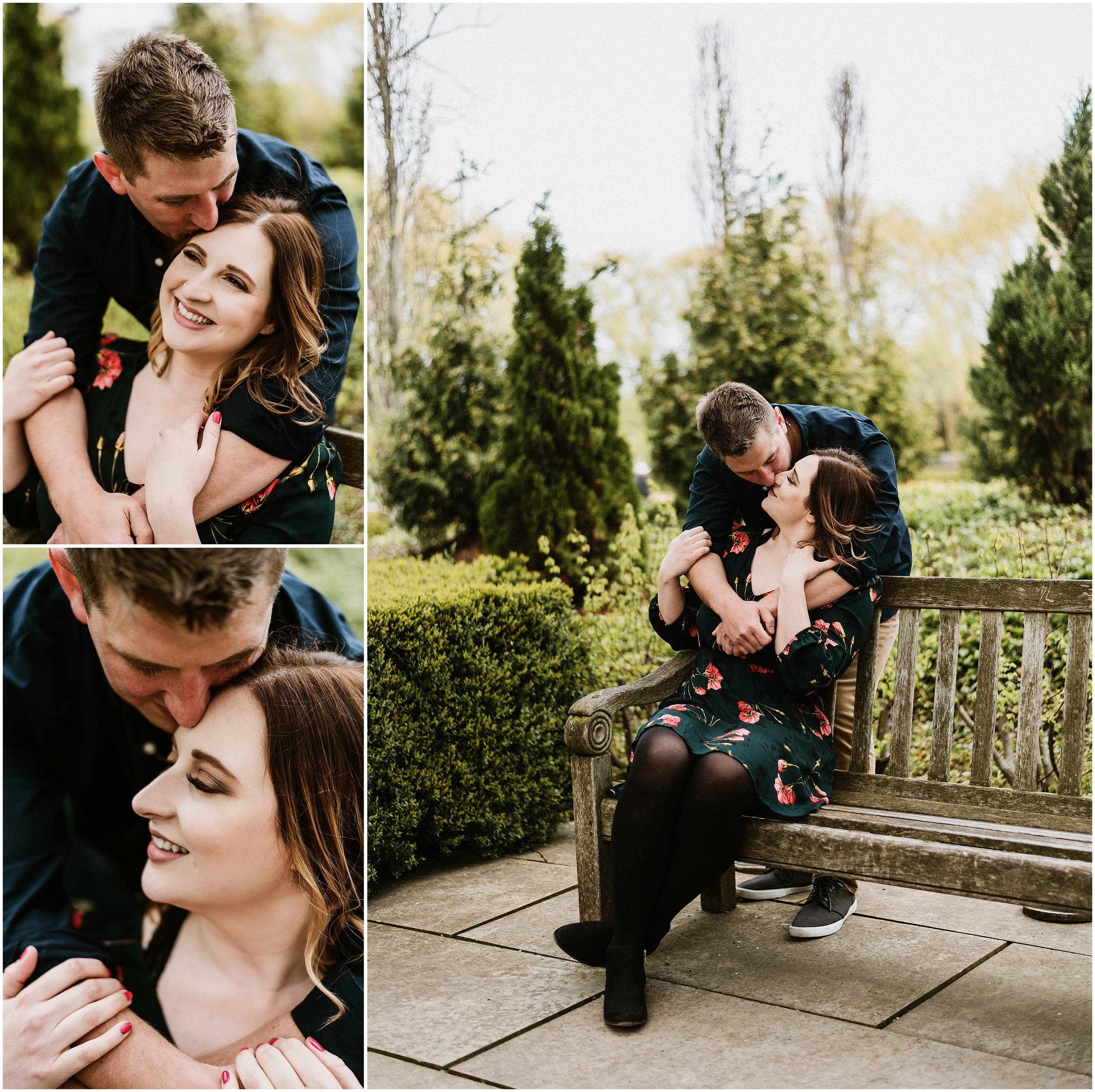 Candace Sims Photography | Melissa and David Spring Engagement Shoot | Chicago Botanic Garden | Glencoe, IL