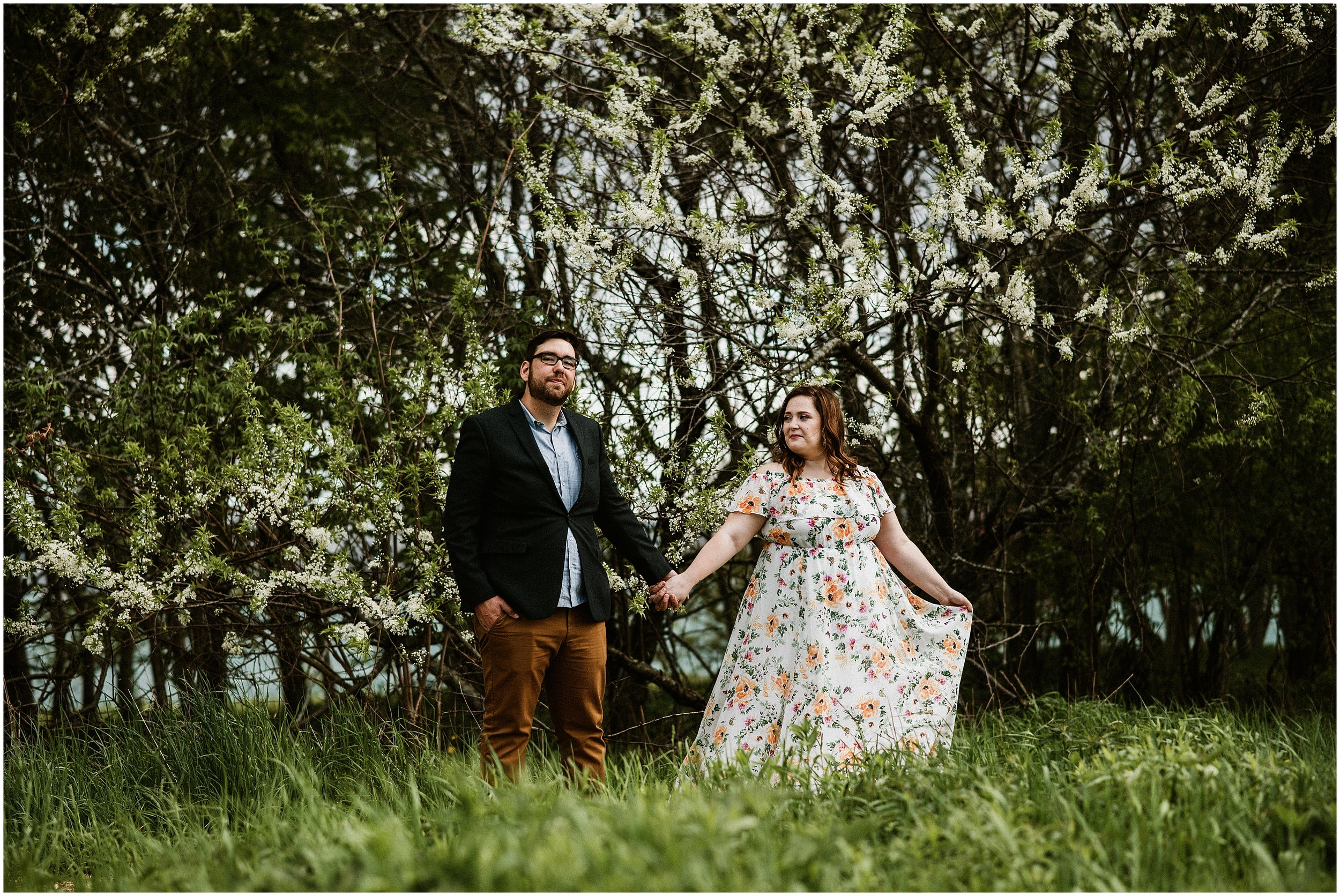 Candace Sims Photography | Brooke and Mike City Engagement Session | Montrose Point Bird Sanctuary | Chicago, IL