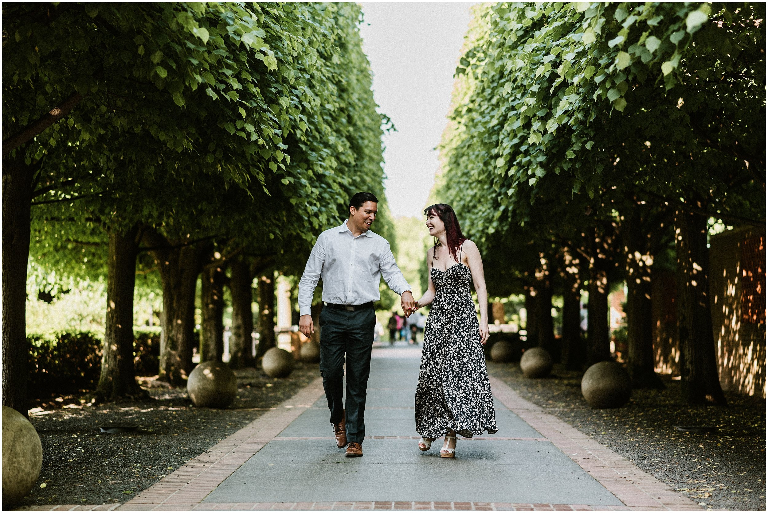 Sarah And Marcel Chicago Botanic Garden Engagement Session