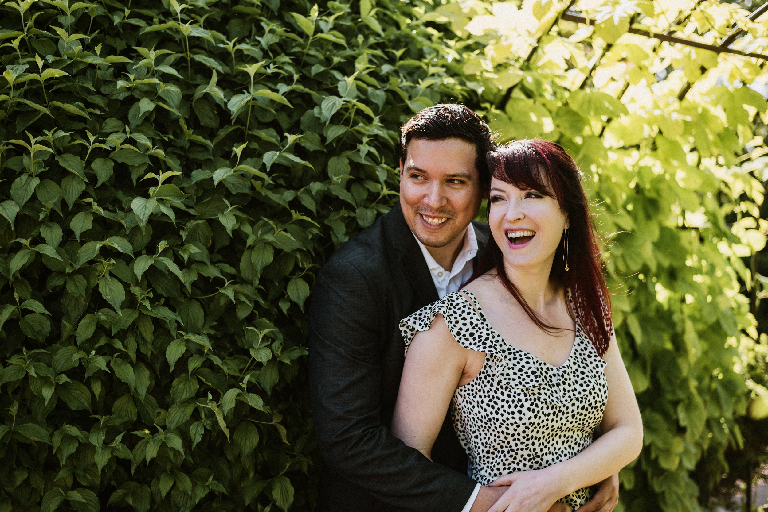 Sarah and Marcel - Chicago Botanic Garden Engagement Session | Glencoe, IL