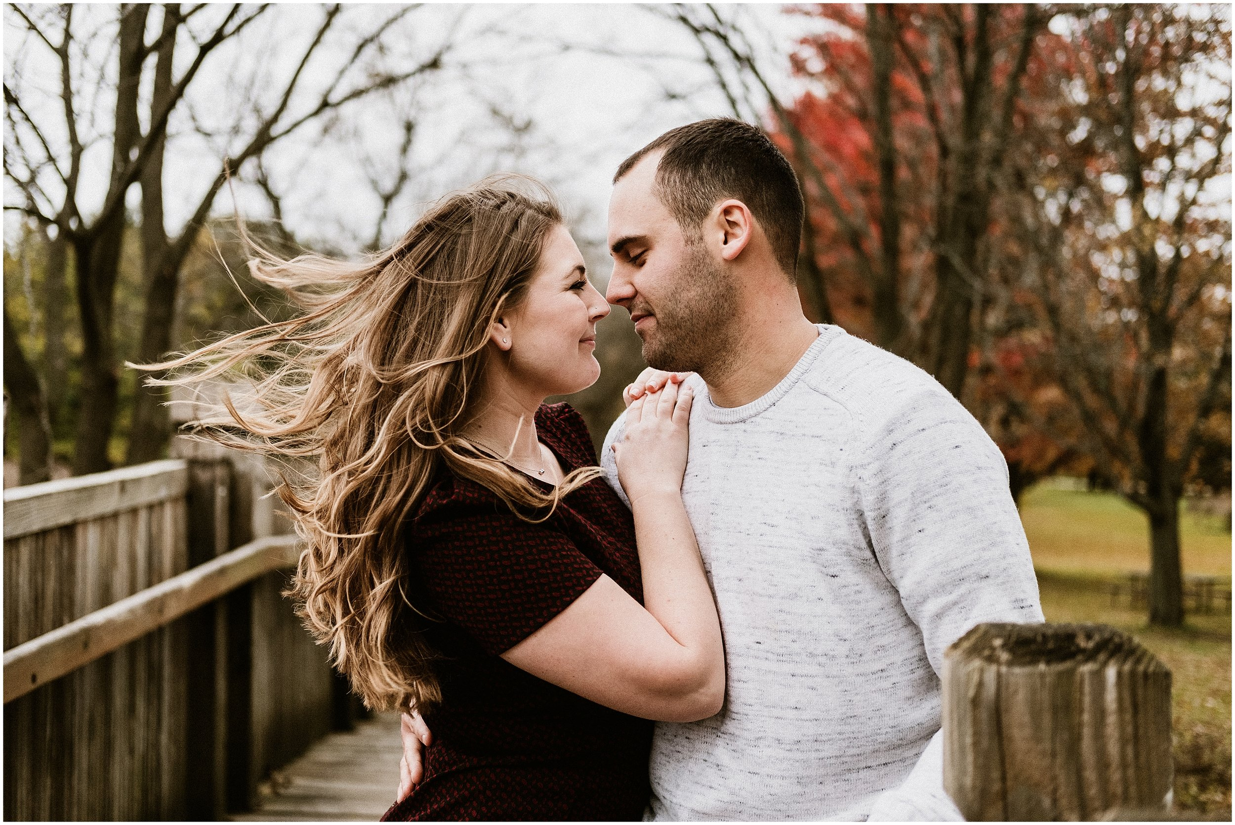 Jenny and Mike | Fall Engagement Session | St. James Farm | Wheaton, IL | Chicago Wedding Photographer