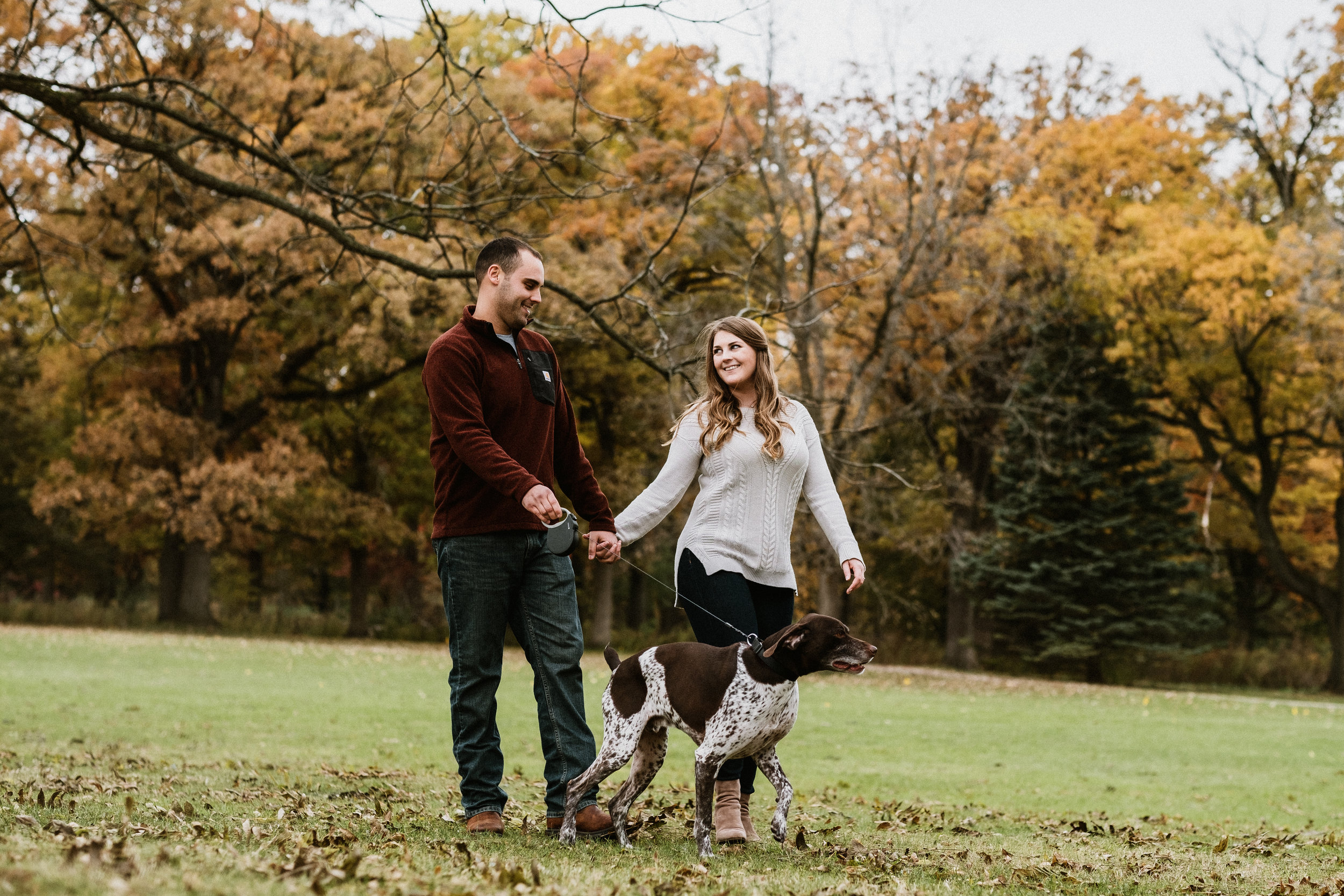 Jenny and Mike - Fall Engagement Session | St. James Farm | Wheaton, IL | Chicago Wedding Photographer