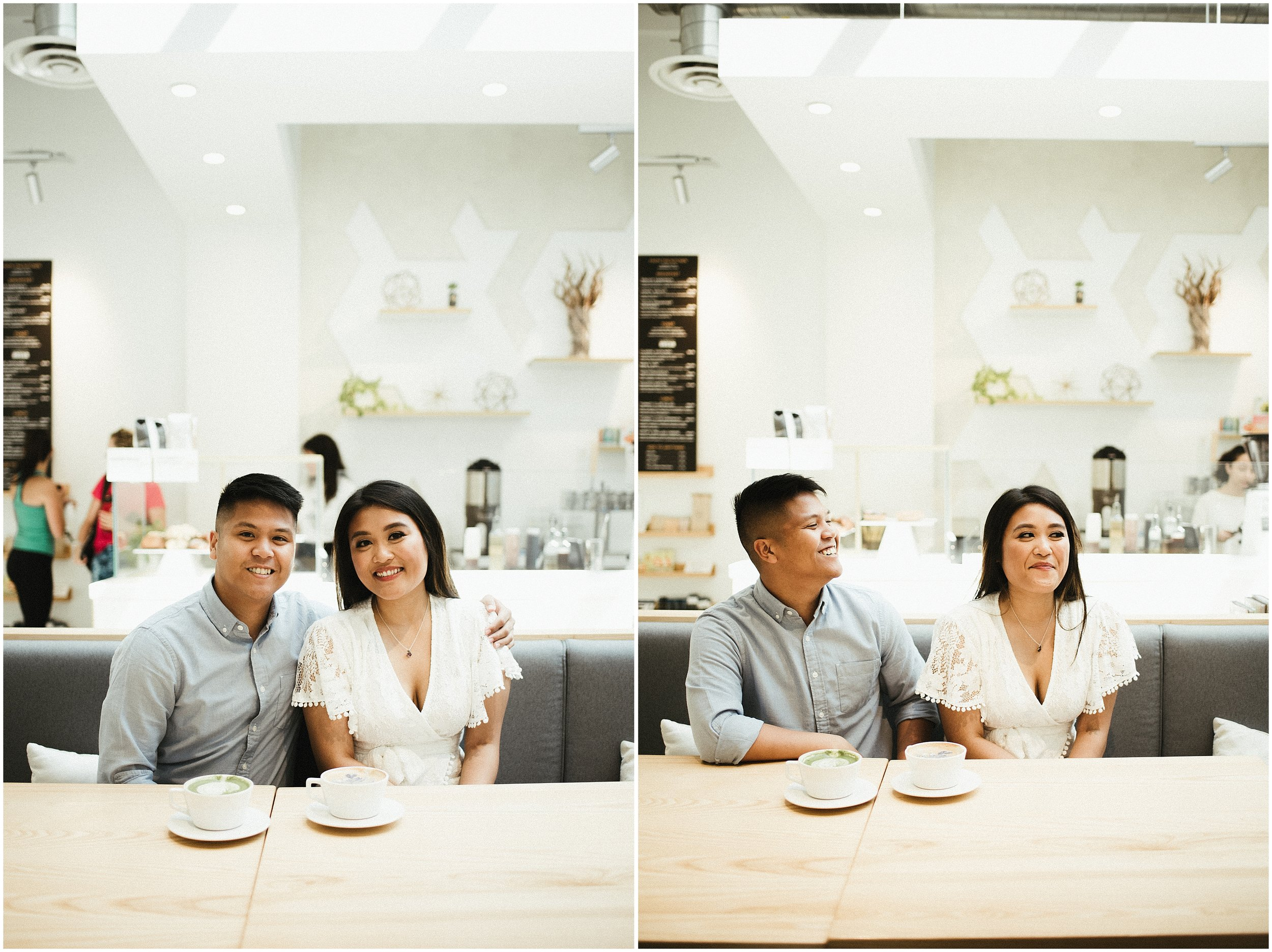 Mariel and Zach Engagement Session | LimitLess Coffee & Tea Chicago Fulton Market | Chicago, IL | Chicago Wedding Photographer