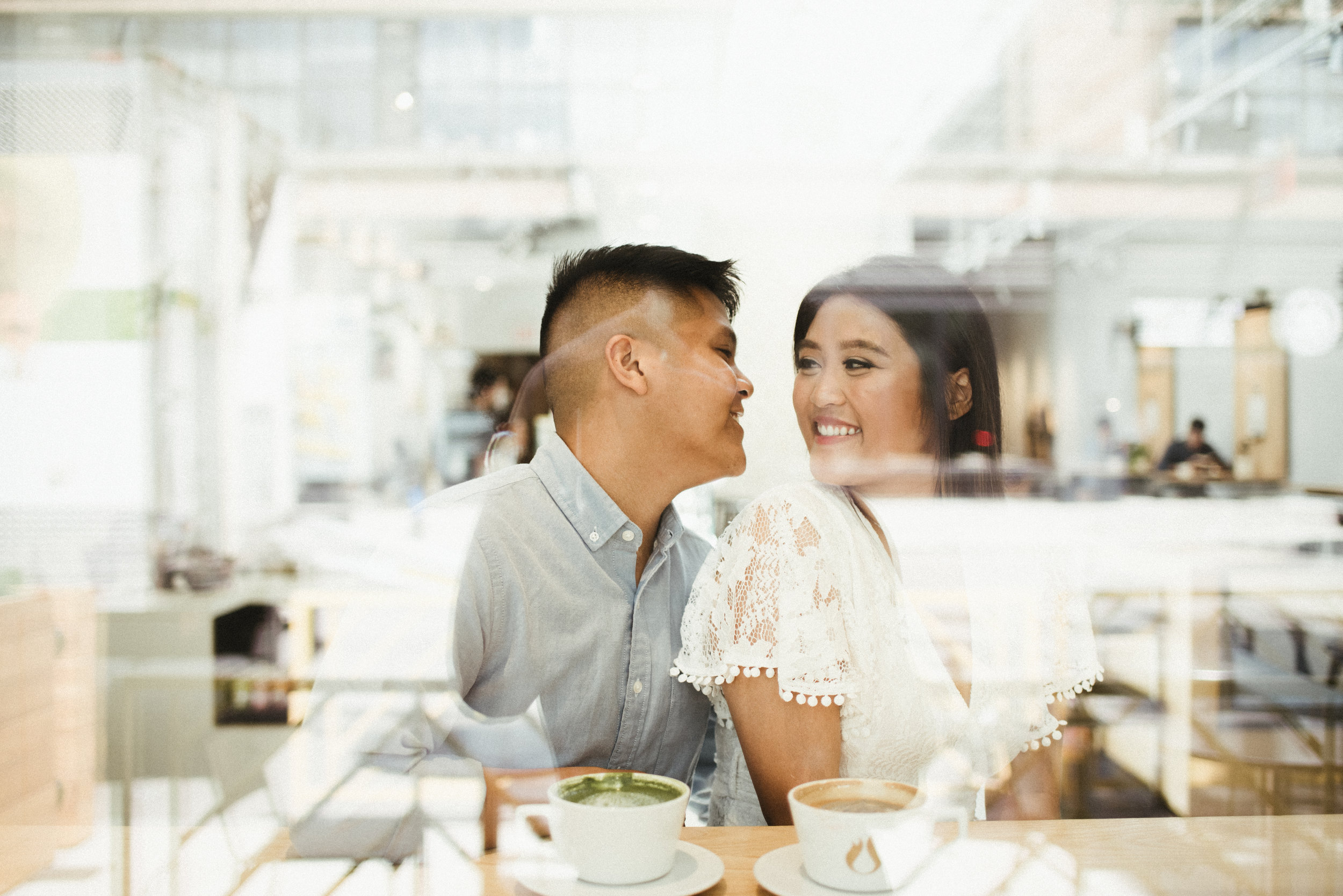 Mariel and Zach - Limitless Coffee & Tea Chicago Fulton Market Engagement Session | Chicago, IL | Chicago Wedding Photographer
