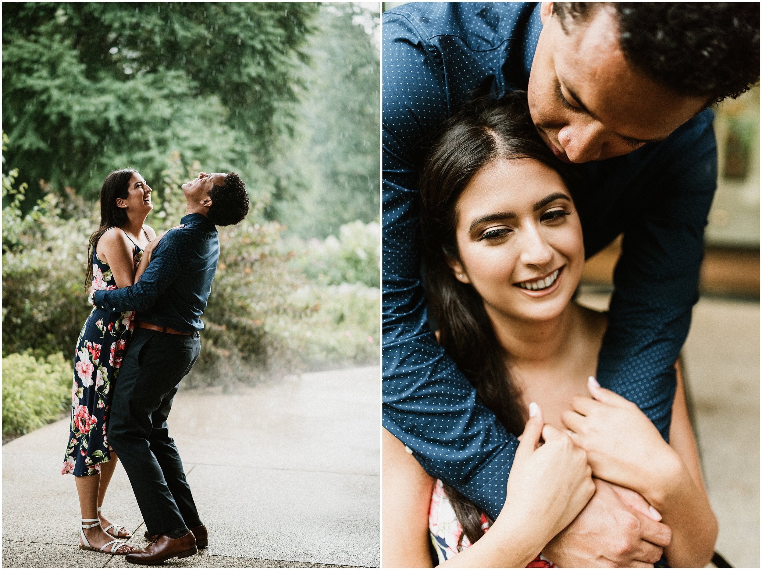 Cathy and Xavier | Stormy Sunshine Engagement Session | The Morton Arboretum | Lisle, IL | Chicago Wedding Photographer
