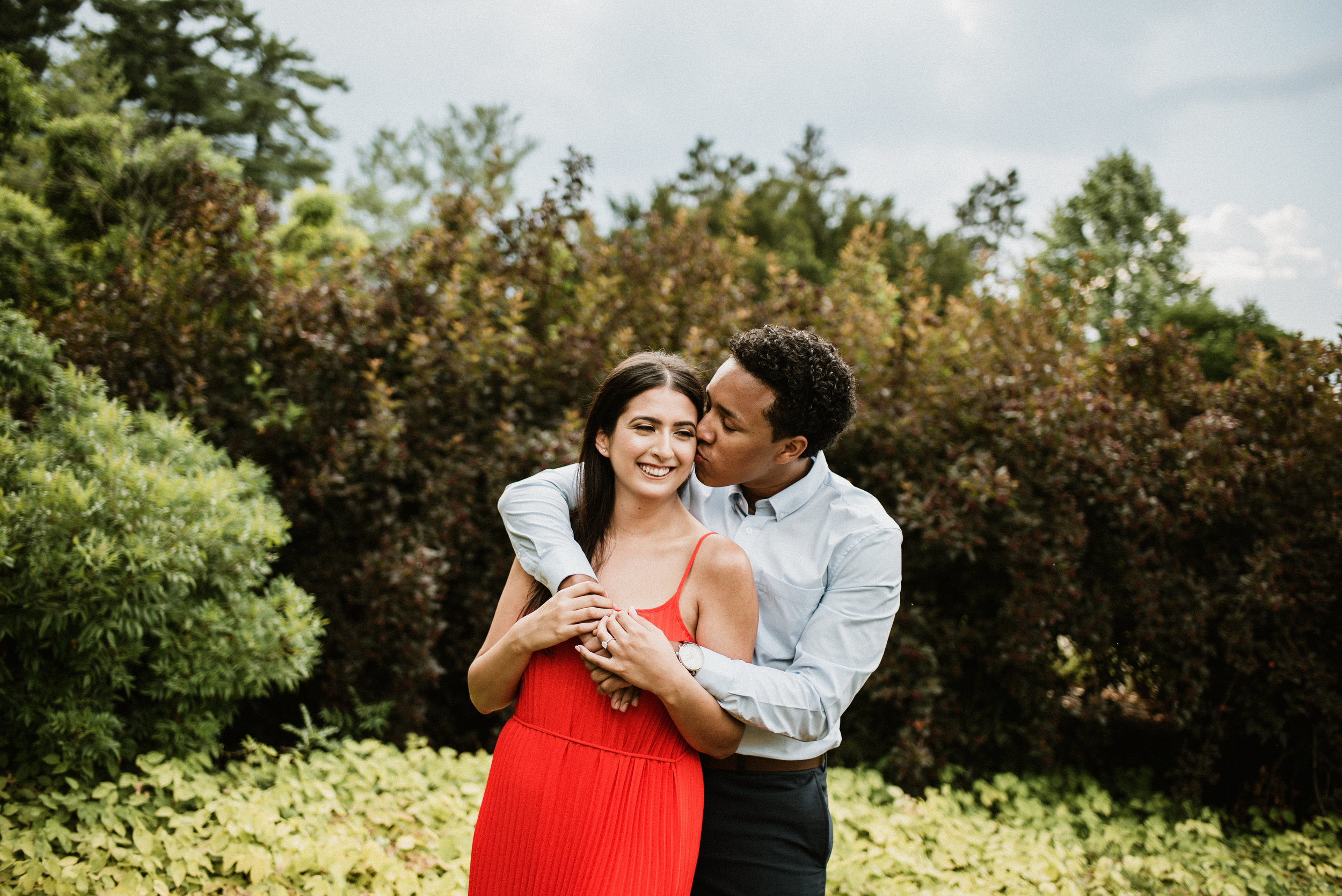 Cathy And Xavier - Stormy Sunshine Engagement Session | The Morton Arboretum | Lisle, IL | Chicago Wedding Photographer