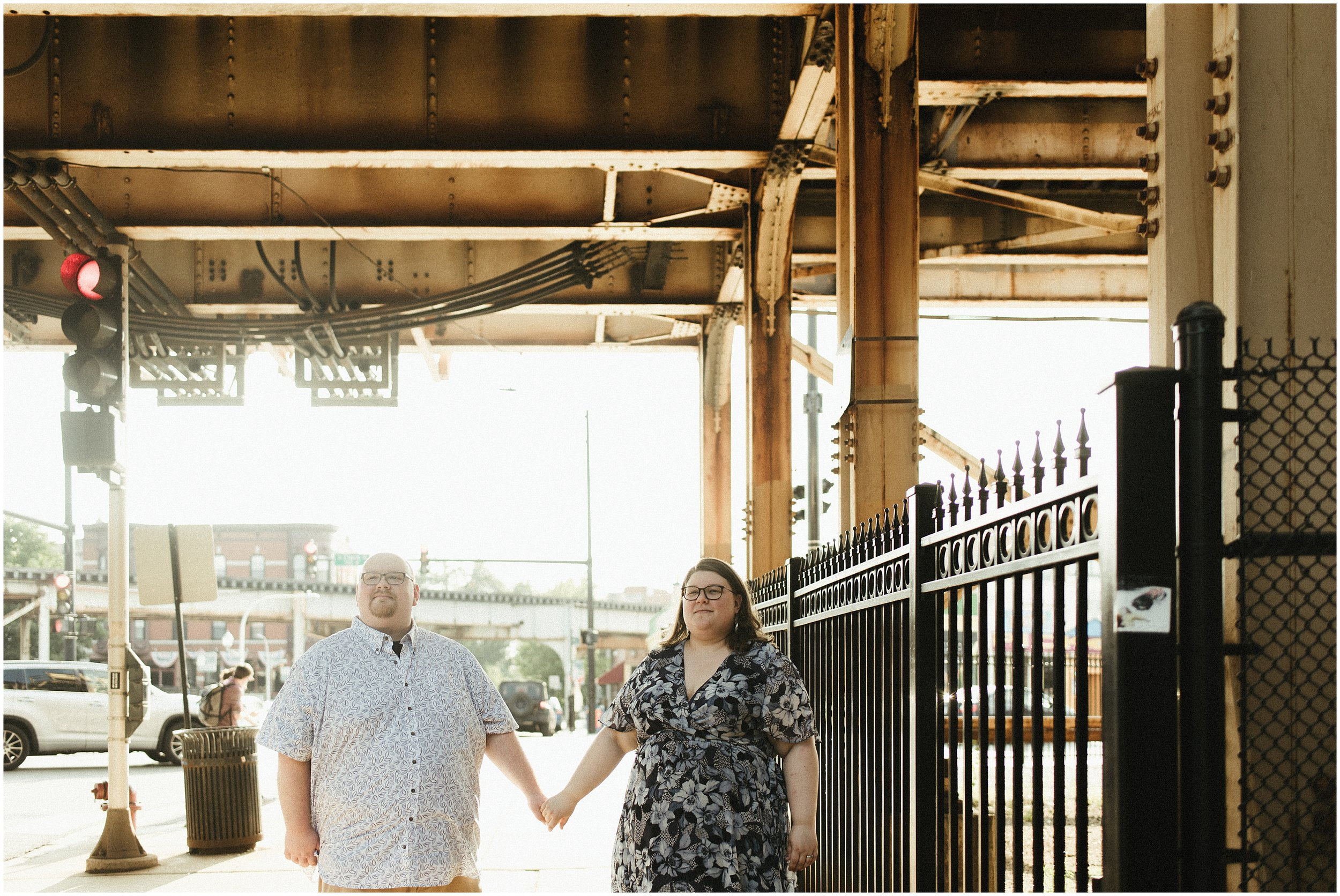Maren and Dave   Urban Engagement Session    Pick Me Up Cafe Clark Street   Chicago, IL   Naperville Travel Wedding Photographer