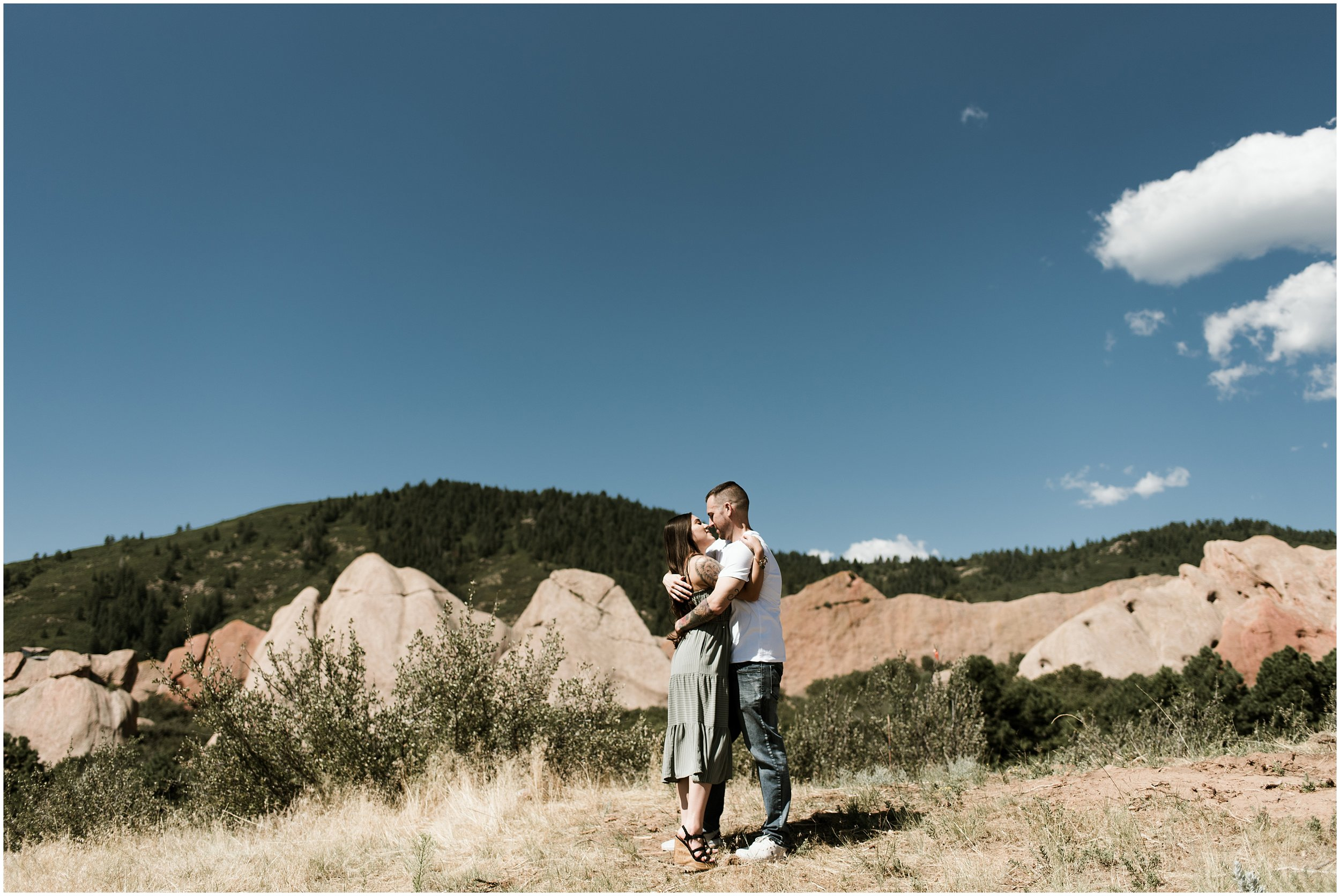 Vania and Jason Romantic Denver Engagement | Roxborough Park | Hudson Gardens | Jackass Hill | Littleton, CO | Chicago Wedding Photographer