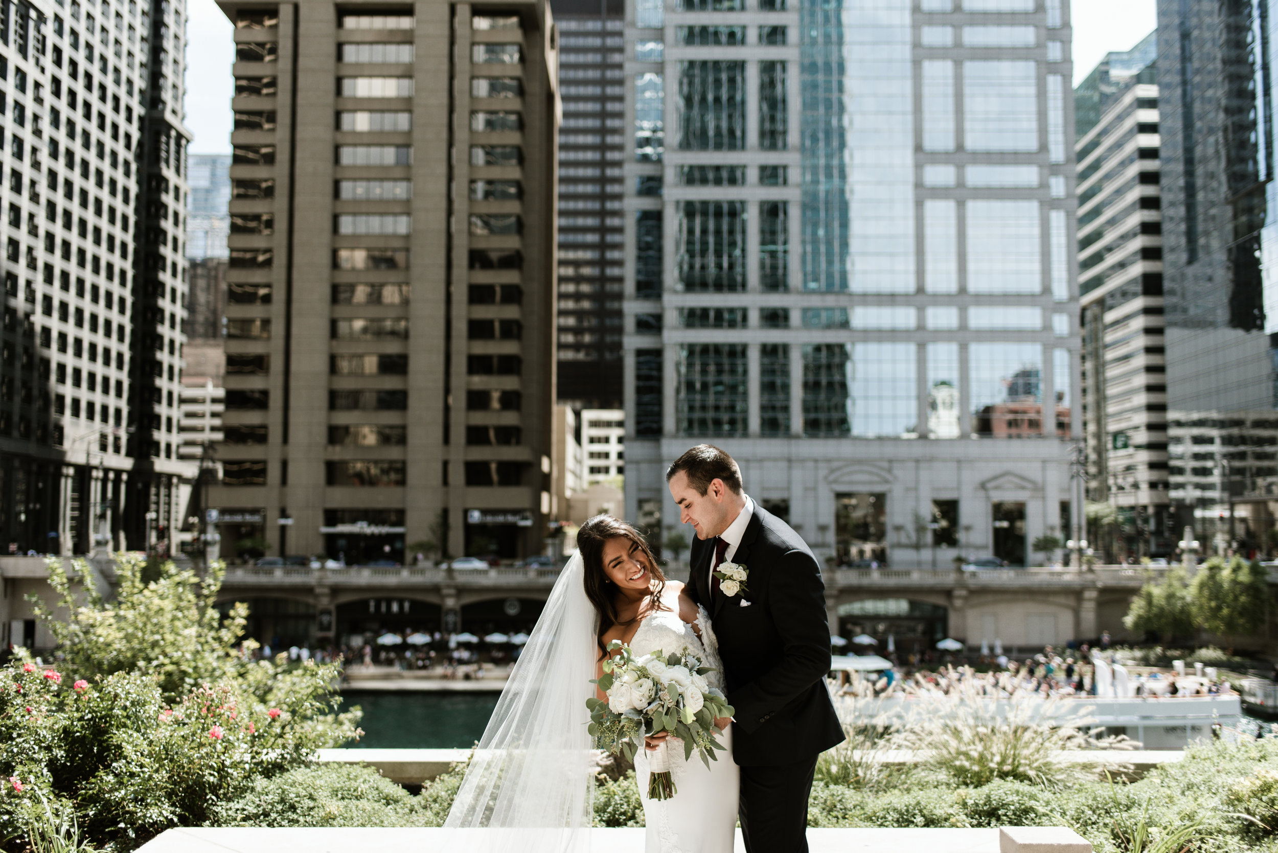 Mj and Kevin - Modern Romantic City Wedding | The Westin Chicago Northshore And Ignite Glass Studios | Chicago, IL | Naperville Wedding Photographer