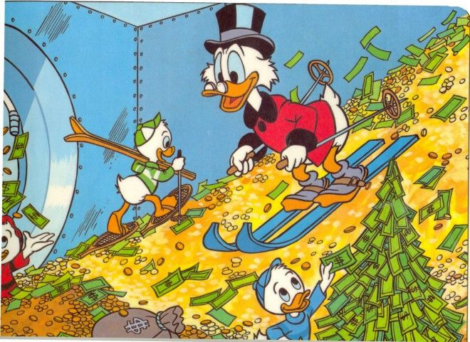 Image: Scrooge McDuck getting his first NIH grant