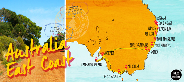 Road Map East Coast Australia.Top 10 Punto Medio Noticias Road Trip East Coast Australia Itinerary
