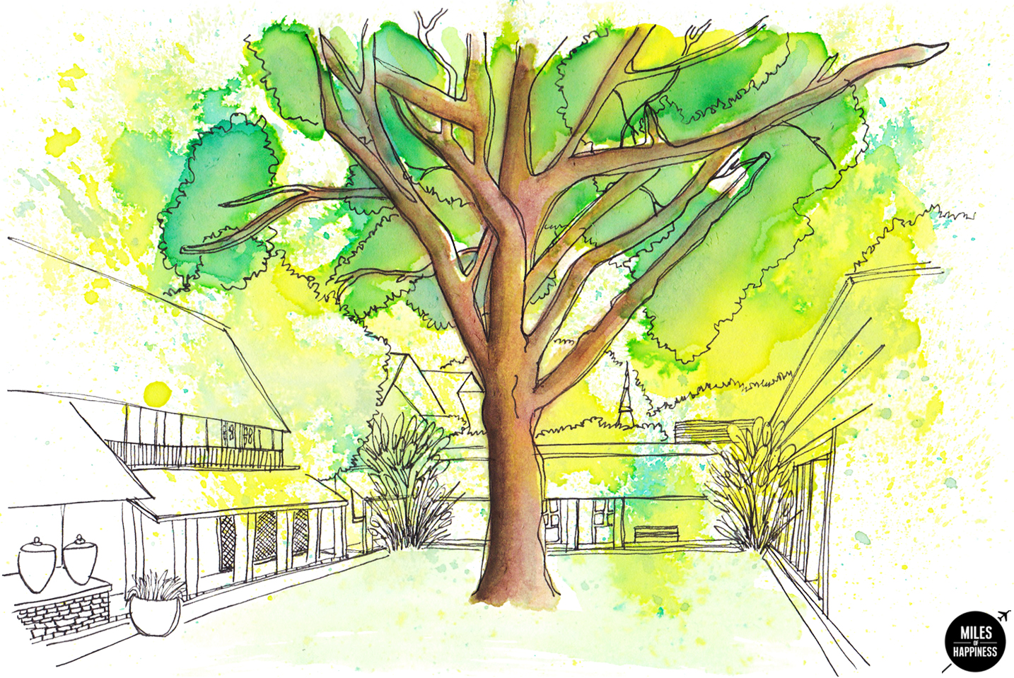 Tamarind Village Illustration by Miles of Happiness