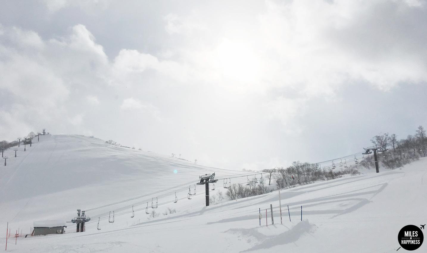 Itinerary of a ski trip in Honshu