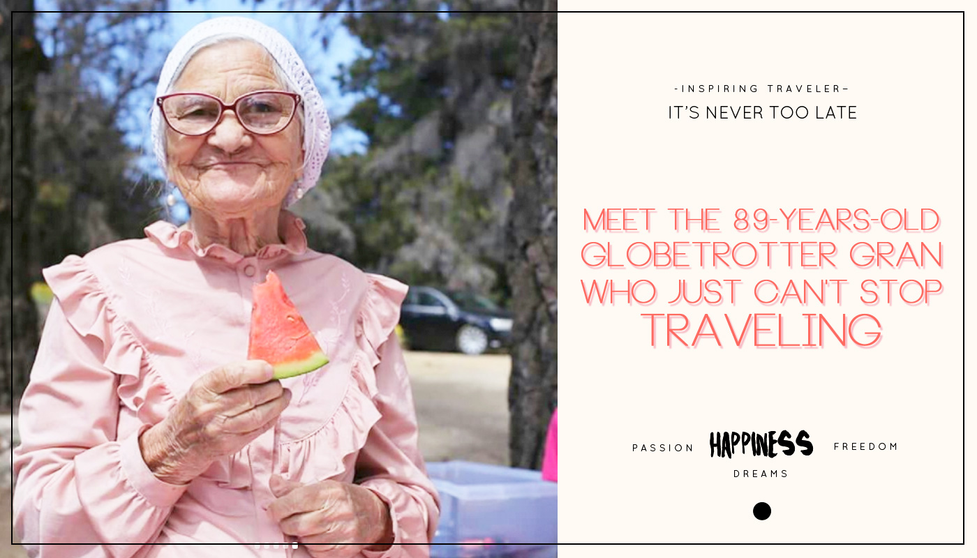 Meet the 89-years-old globetrotter gran who just can't stop traveling