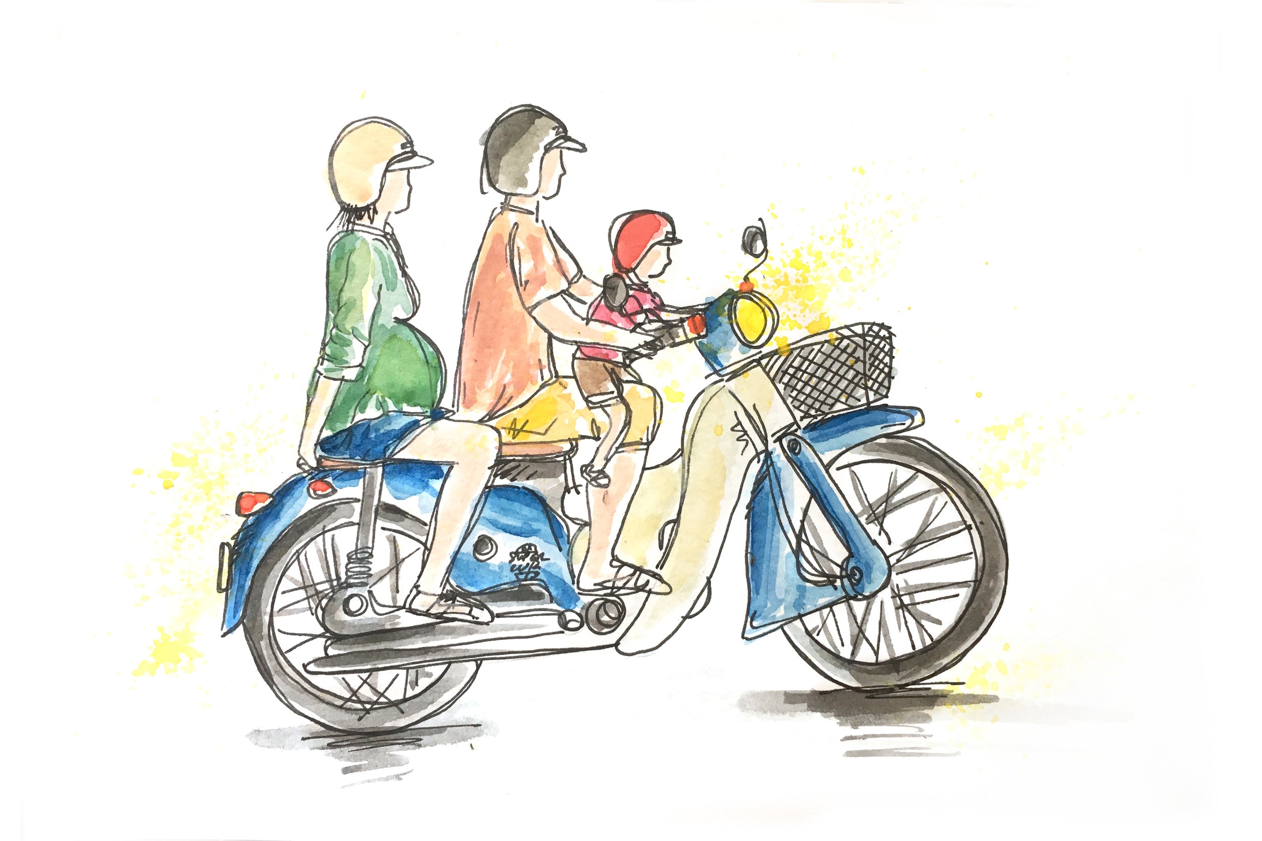Ho Chi Minh with kids - Illustration by Marie Pottiez / Miles of Happiness