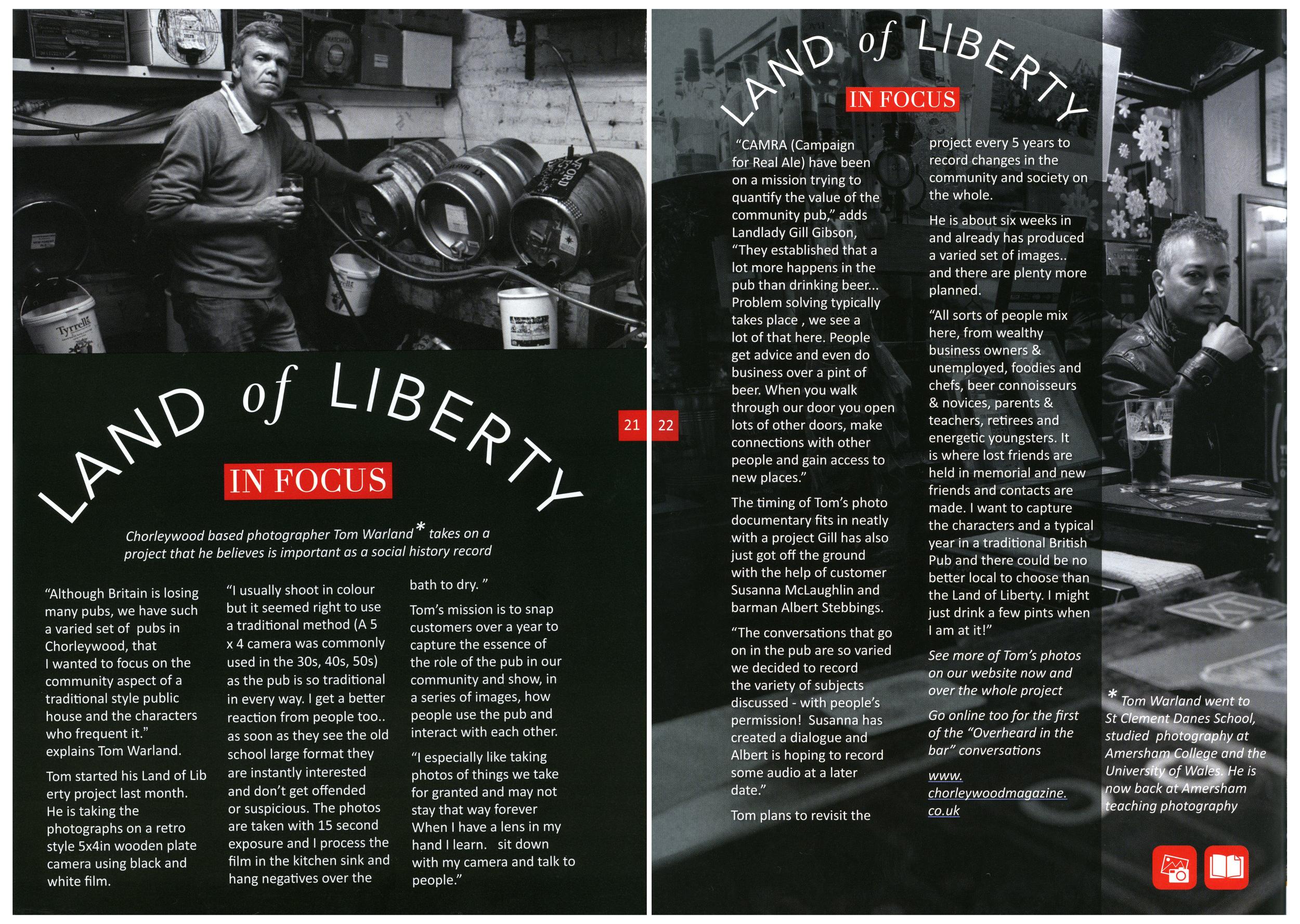 Chorleywood Magazine, February 2015, Page 21 - 22