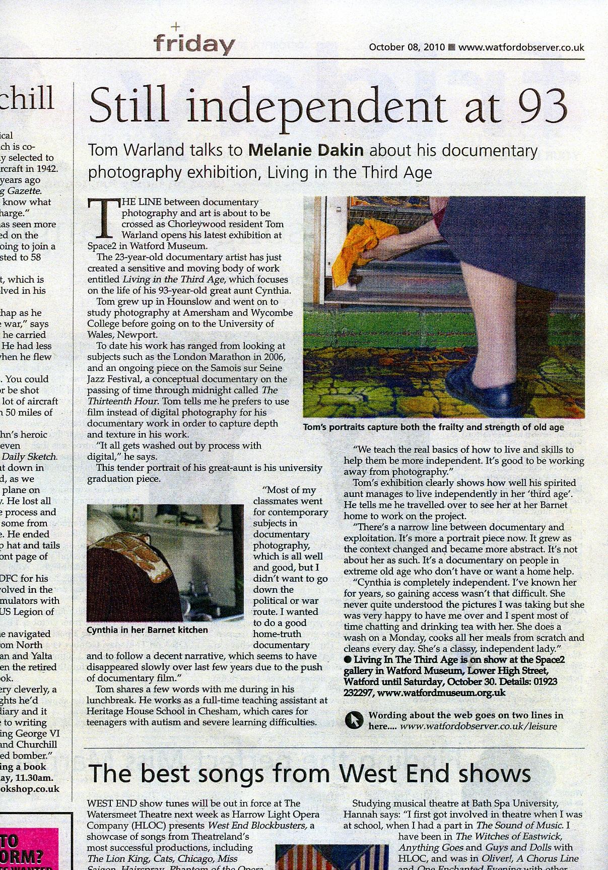 Watford Observer, 8th October 2010