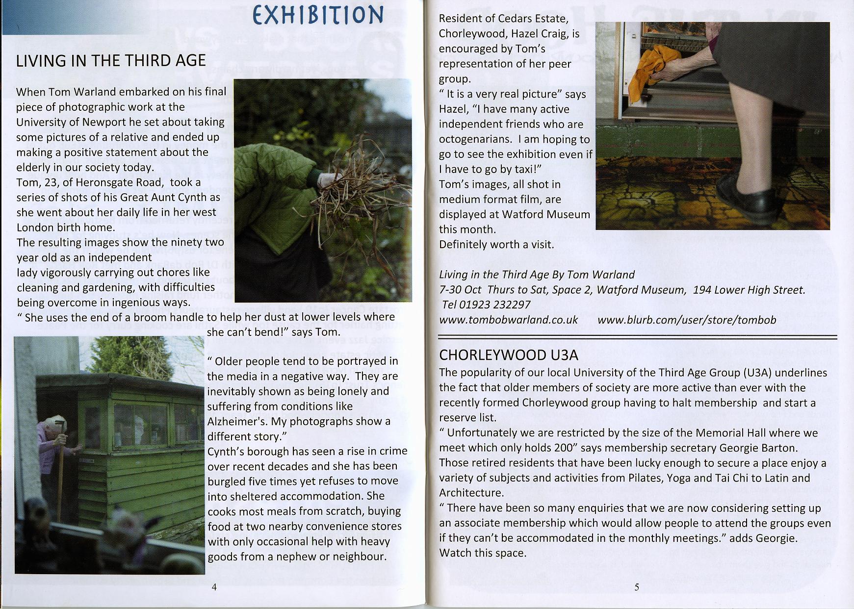 Chorleywood Magazine, October 2010, Pages 4 - 5
