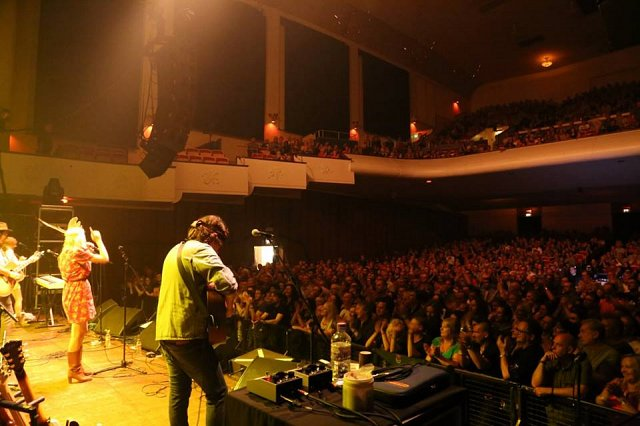 James and Kit supporting Robert Plant at Wolverhampton Civic Hall