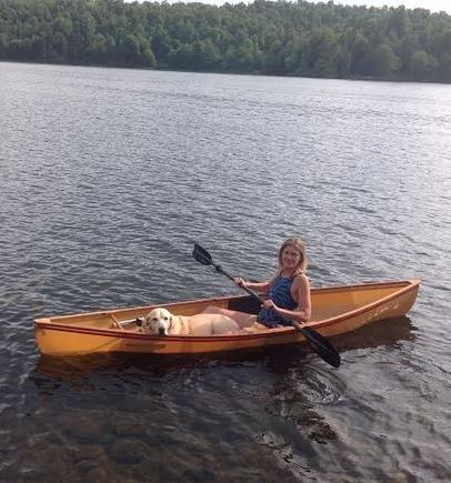 My Friend Basil, my Hornbeck Canoe, and an ADK lake... does it get better?