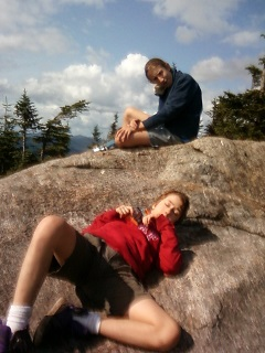 Boys lounging on Porter Mt