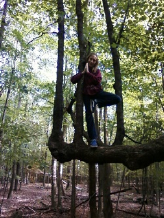 Jake, my oldest son, practicing Tree Pose in a tree!  Teaching lifestyle habits for a lifetime of wellness!