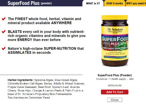 This is the Superfood,  www.herbdoc.com . The chorella and spirulina are potent heavy metal detoxers.    There are many green food powders on the market. Try your local health food store. To find one, read ingredients carefully for 100% whole foods. This SuperFood Plus is available wholesale which considerably cuts down the cost. I keep it available and share my wholesale discount.