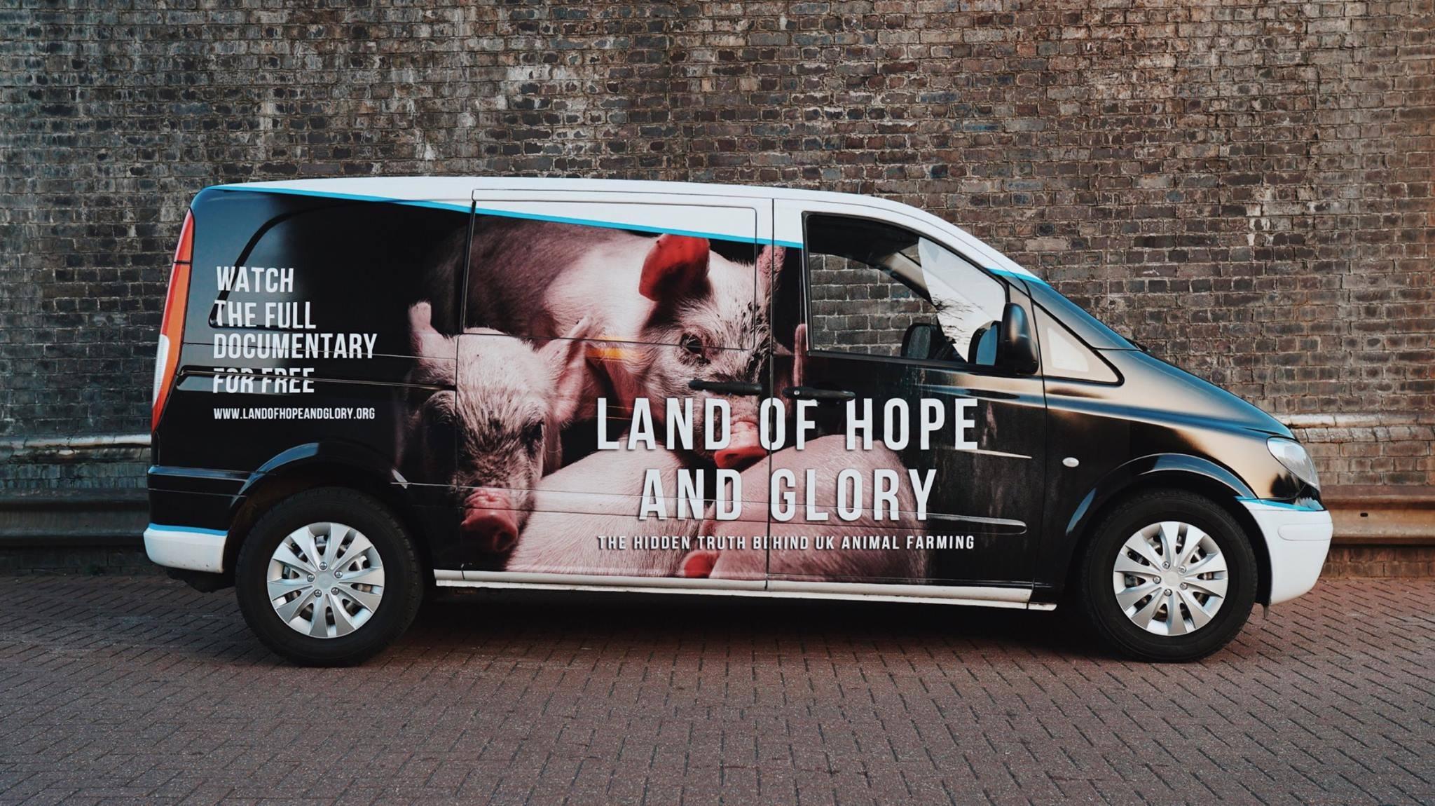 Surge 'Big Vegan Activism Van' Film Promotion Side