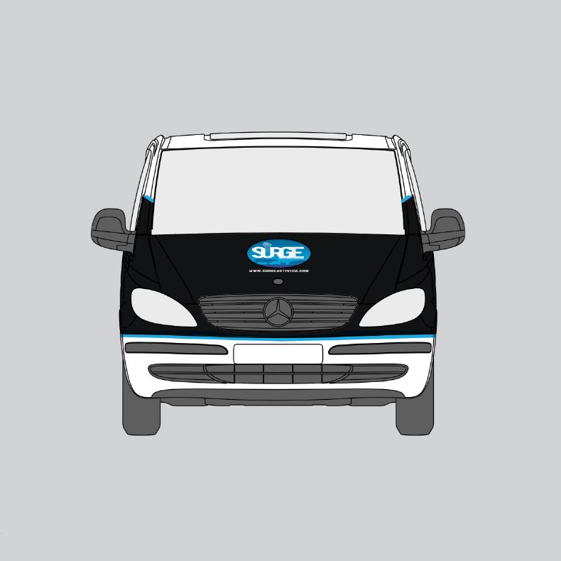 Surge Van Blueprints (Front View)