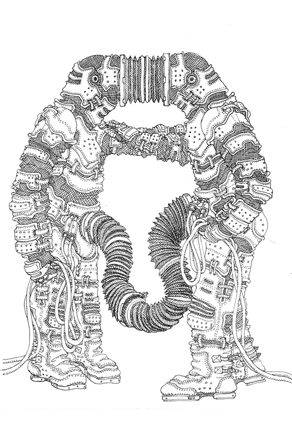 Line Buddy- mono [Apr.20,2014 /Paper & uni ball Signo 0.28mm] /  MECHIKURO