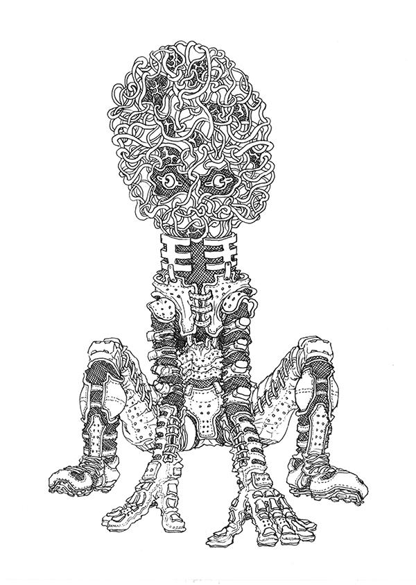 Synapse Bug [Oct.13,2013 / Paper & uni ball Signo 0.38mm]  /  MECHIKURO