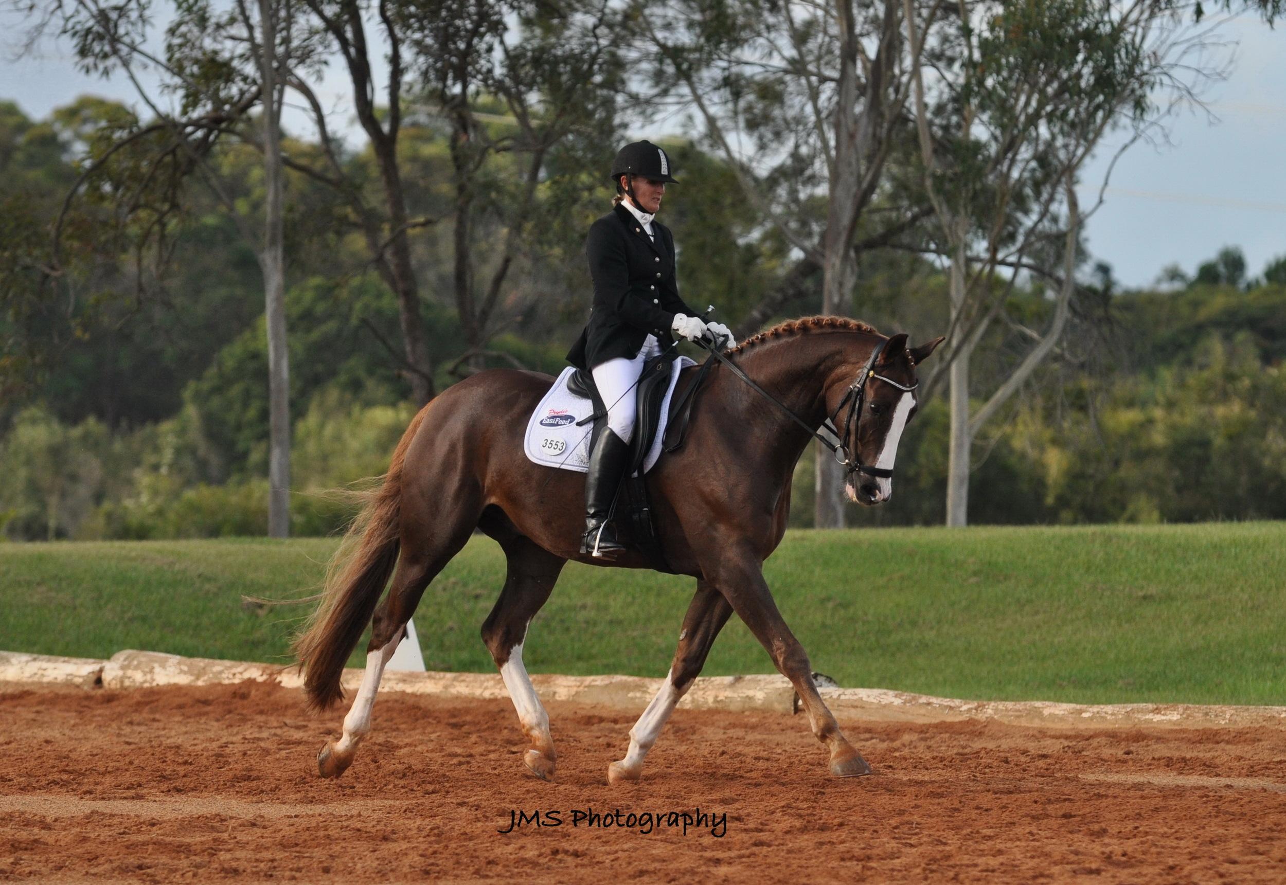 Karen Crommelin Level 1 Pryde's EasiFeed Sponsored Rider
