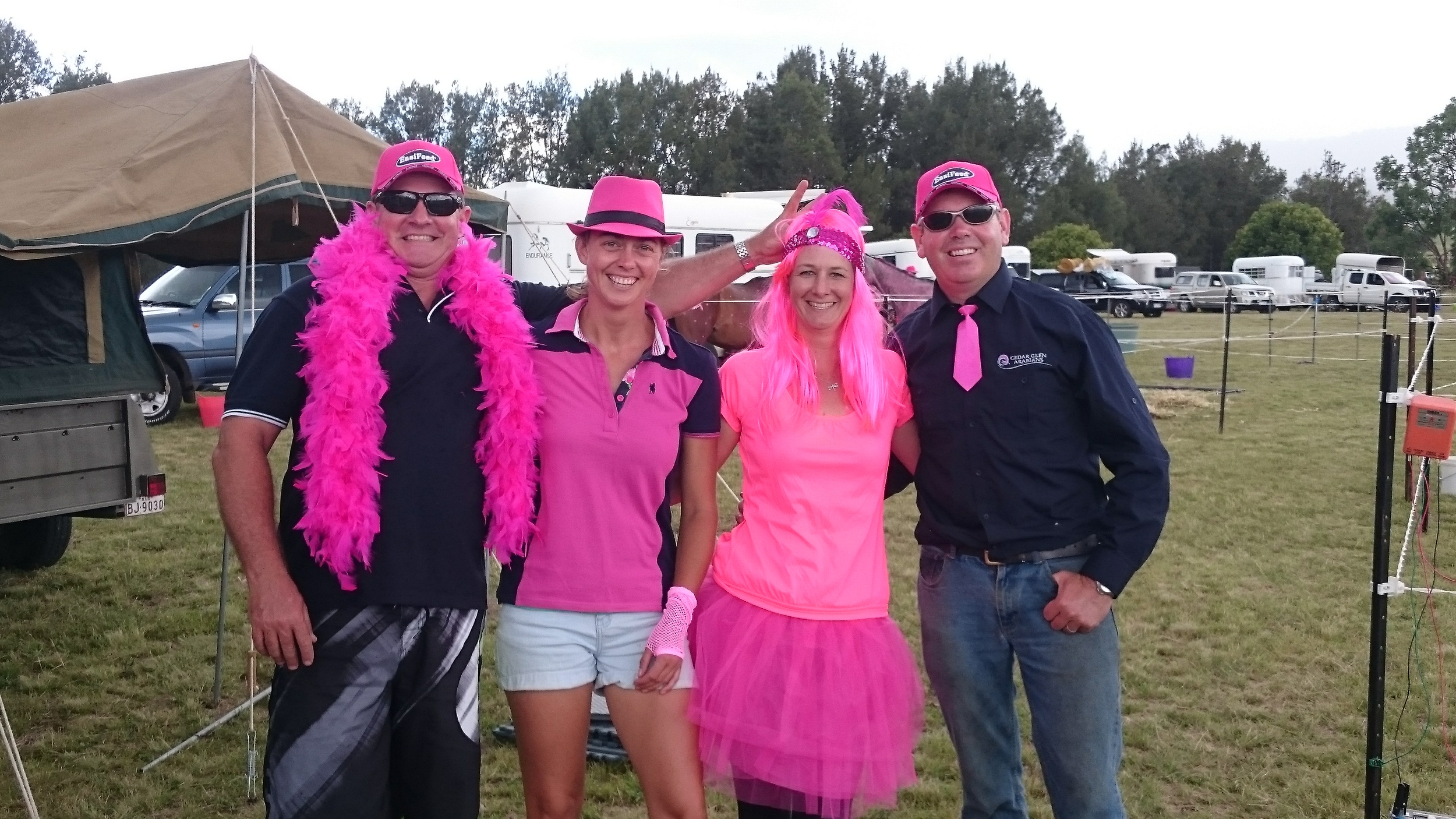 """Thank you for the pink hats and the support from Pryde's EasiFeed. We had a successful weekend with 3 horses completing the 40 km Event. I even scored a price for the best dress up.  Catch up soon, Sabrina.         Normal   0           false   false   false     EN-AU   ZH-TW   AR-SA                                                                                                                                                                                                                                                                                                                                                                                                                                                                                                                                                                                                                                                                                                                                                                                                                                                                     /* Style Definitions */  table.MsoNormalTable {mso-style-name:""""Table Normal""""; mso-tstyle-rowband-size:0; mso-tstyle-colband-size:0; mso-style-noshow:yes; mso-style-priority:99; mso-style-parent:""""""""; mso-padding-alt:0cm 5.4pt 0cm 5.4pt; mso-para-margin:0cm; mso-para-margin-bottom:.0001pt; mso-pagination:widow-orphan; font-size:11.0pt; font-family:""""Calibri"""",sans-serif; mso-ascii-font-family:Calibri; mso-ascii-theme-font:minor-latin; mso-hansi-font-family:Calibri; mso-hansi-theme-font:minor-latin;}"""