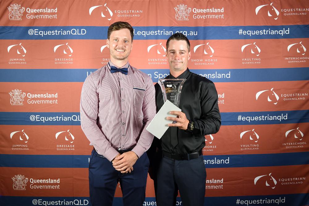 2015 Pryde's EasiFeed Horse of the Year winner - Merrick Ubank and Alantinus