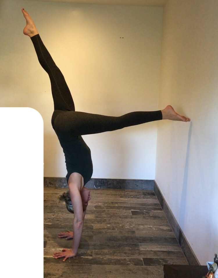 Half Handstand Toe at the Wall