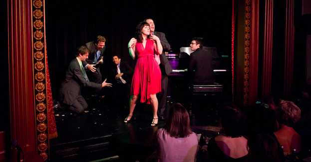 Andrew Resnick playing Broadway's Next Hit Musical at Stage 72 in 2013.