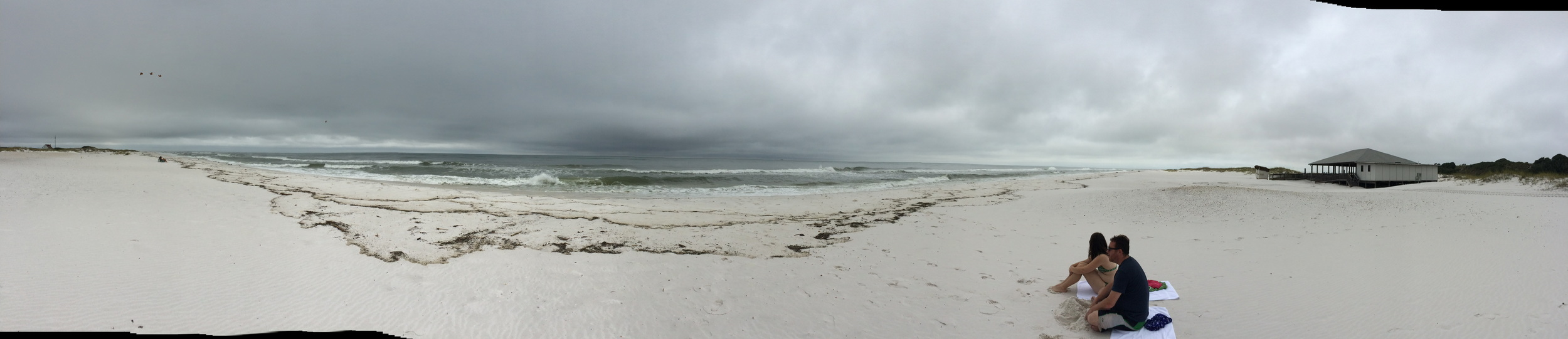 Rob Schiffmann and Rachel Dart at Gulf Islands National Seashore