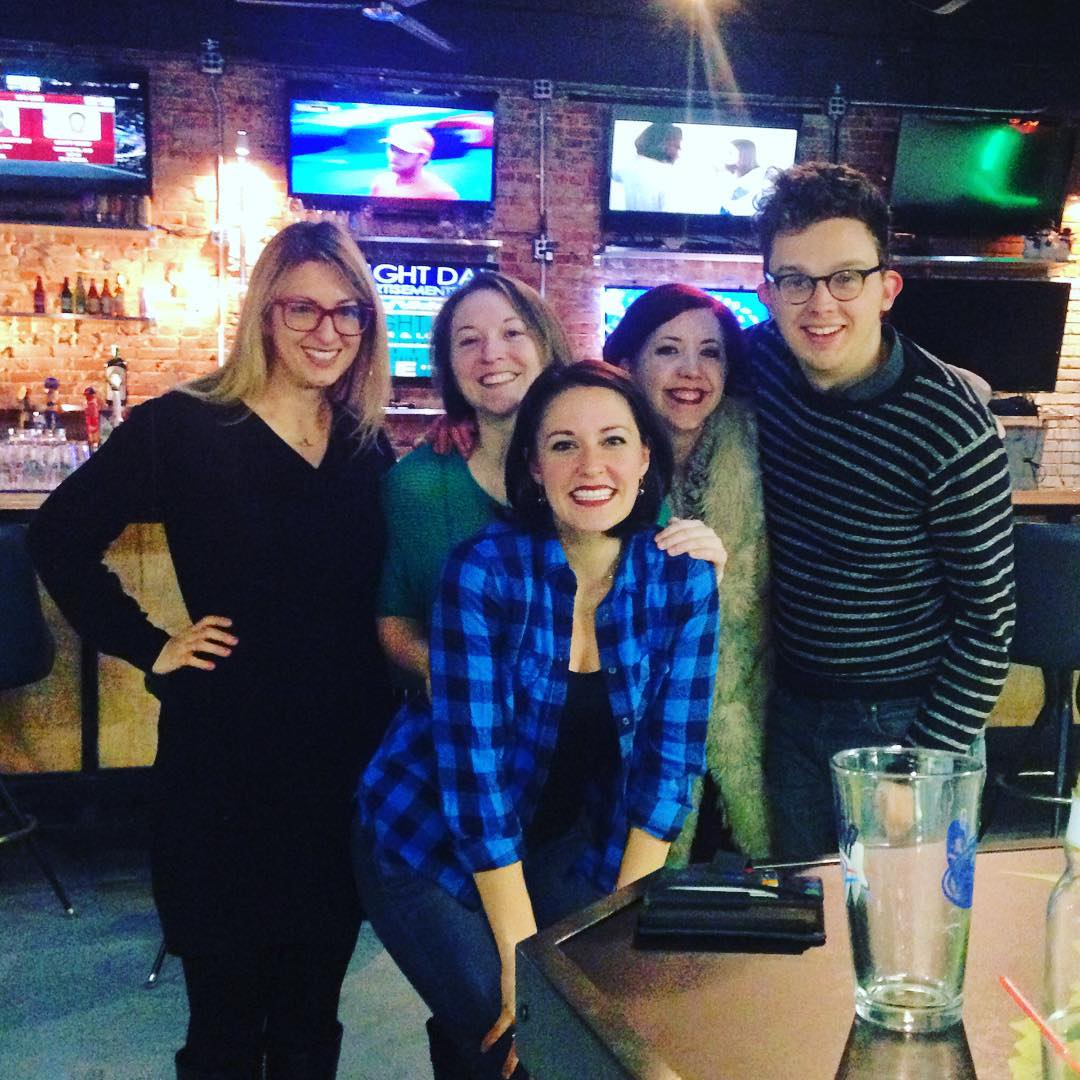 Rachel with friends post-show in Stillwater, OK