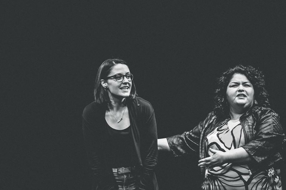 Rachel and Cristela Carrizales, Artistic Director of OKC Improv