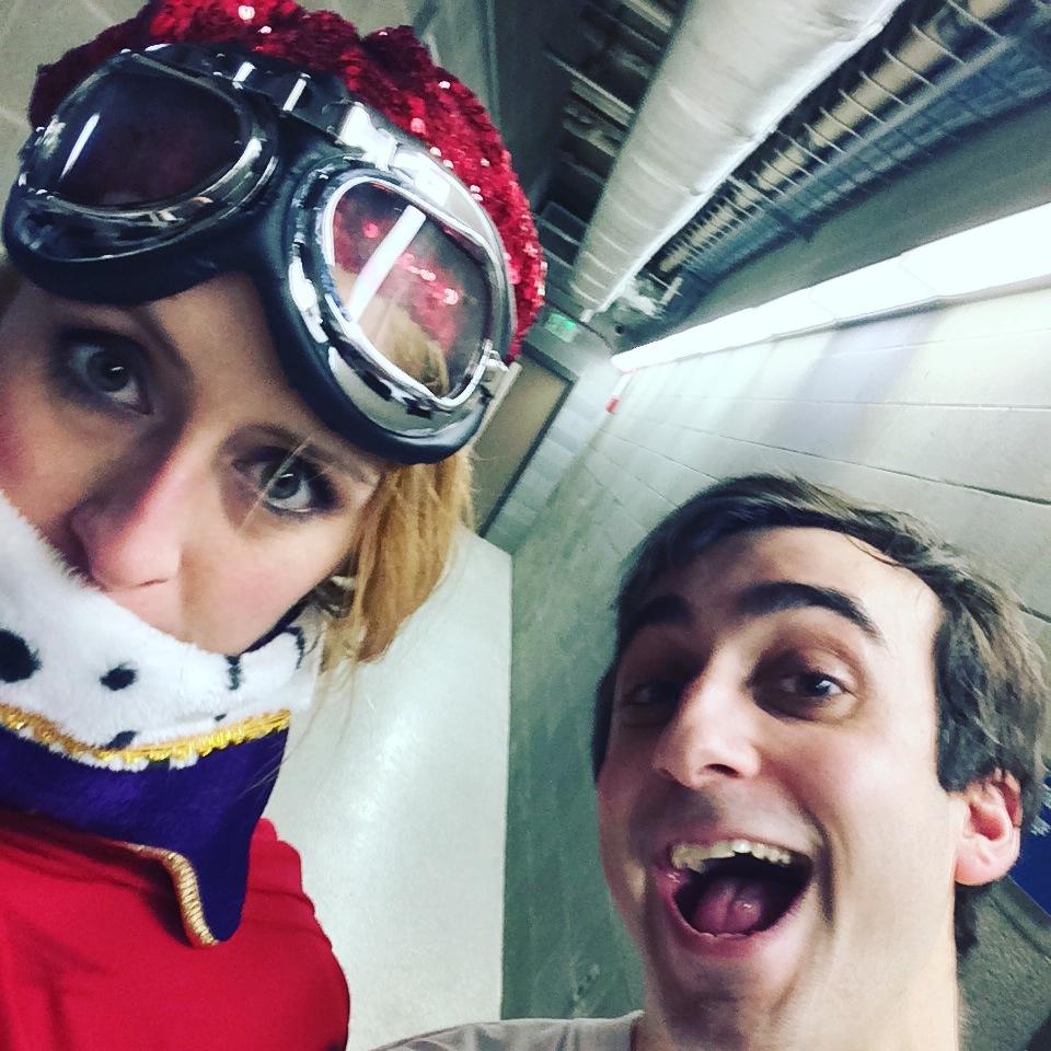 Katie Hammond and Daniel Tepper in costume