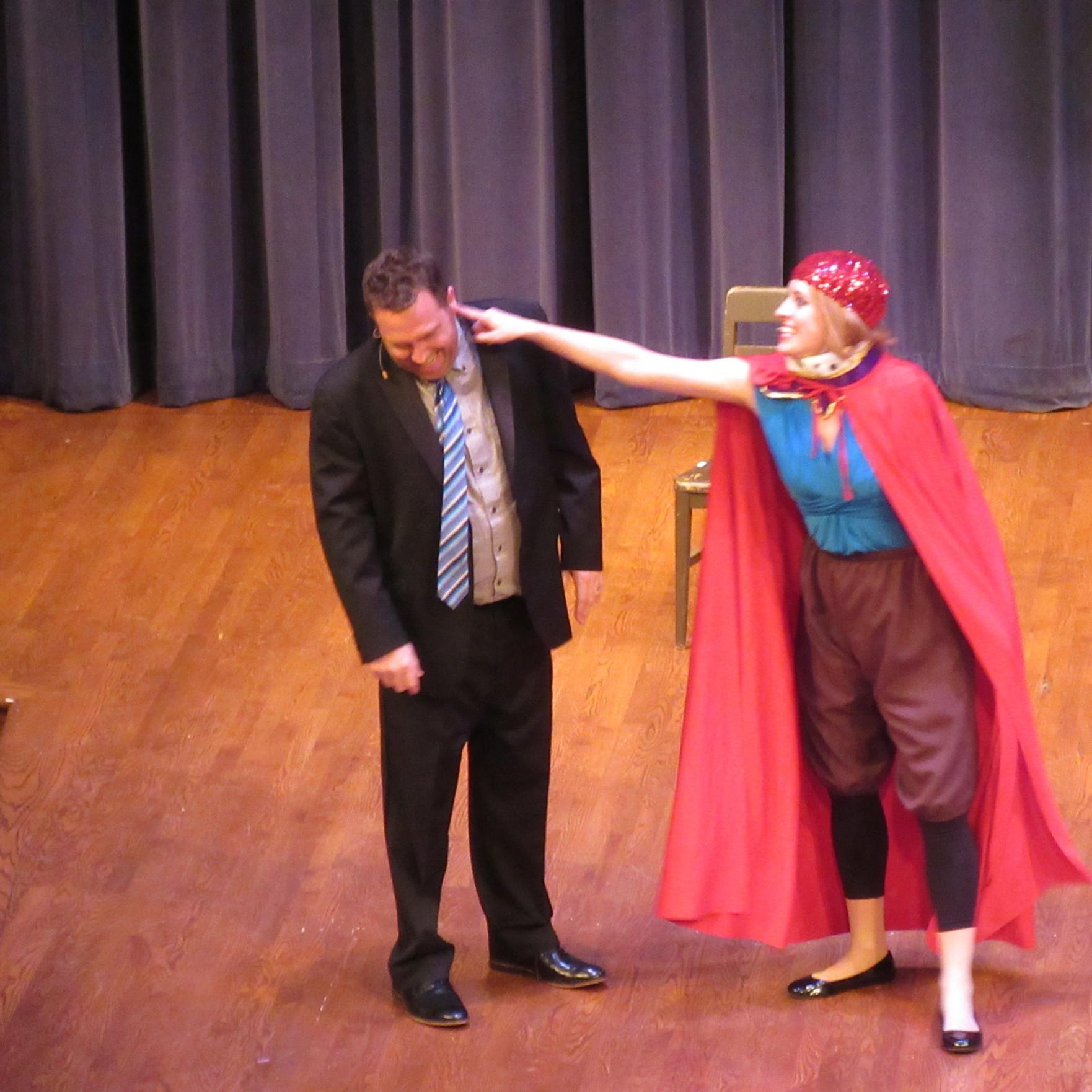 Rob Schiffmann and Katie Hammond onstage.