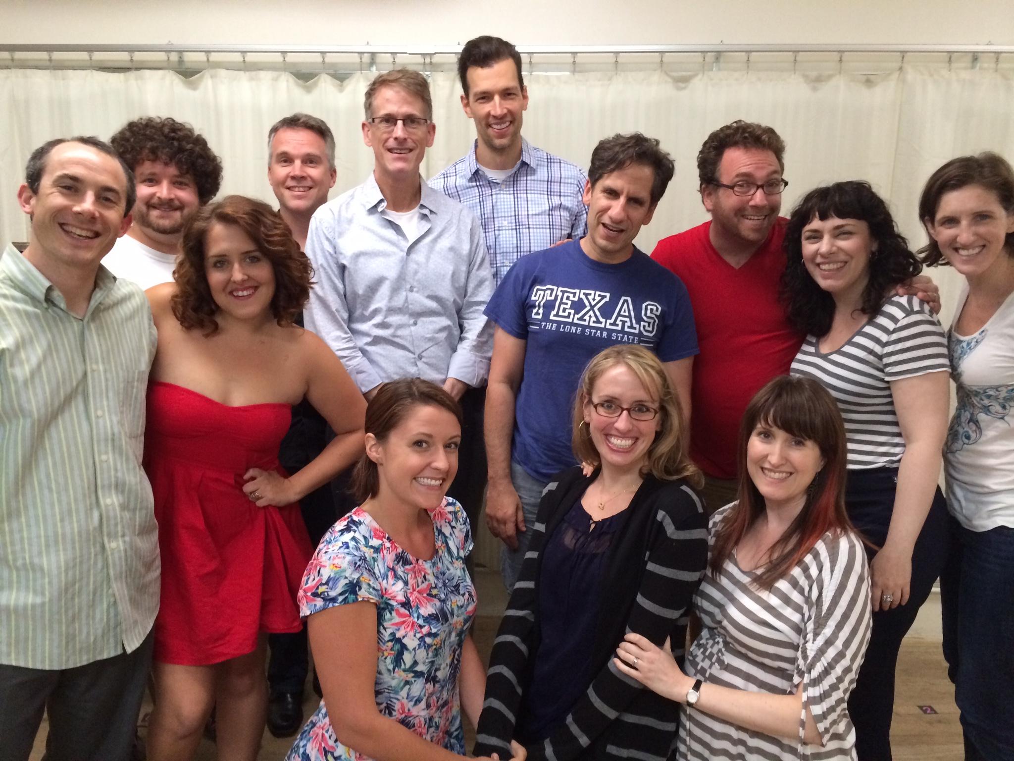 The company with Seth Rudetsky and Tony nominee Dick Scanlan.