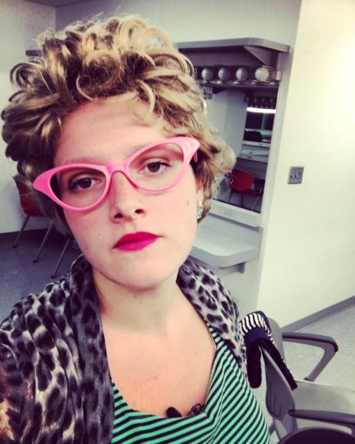 Megan Reilly in costume in Miami, FL.