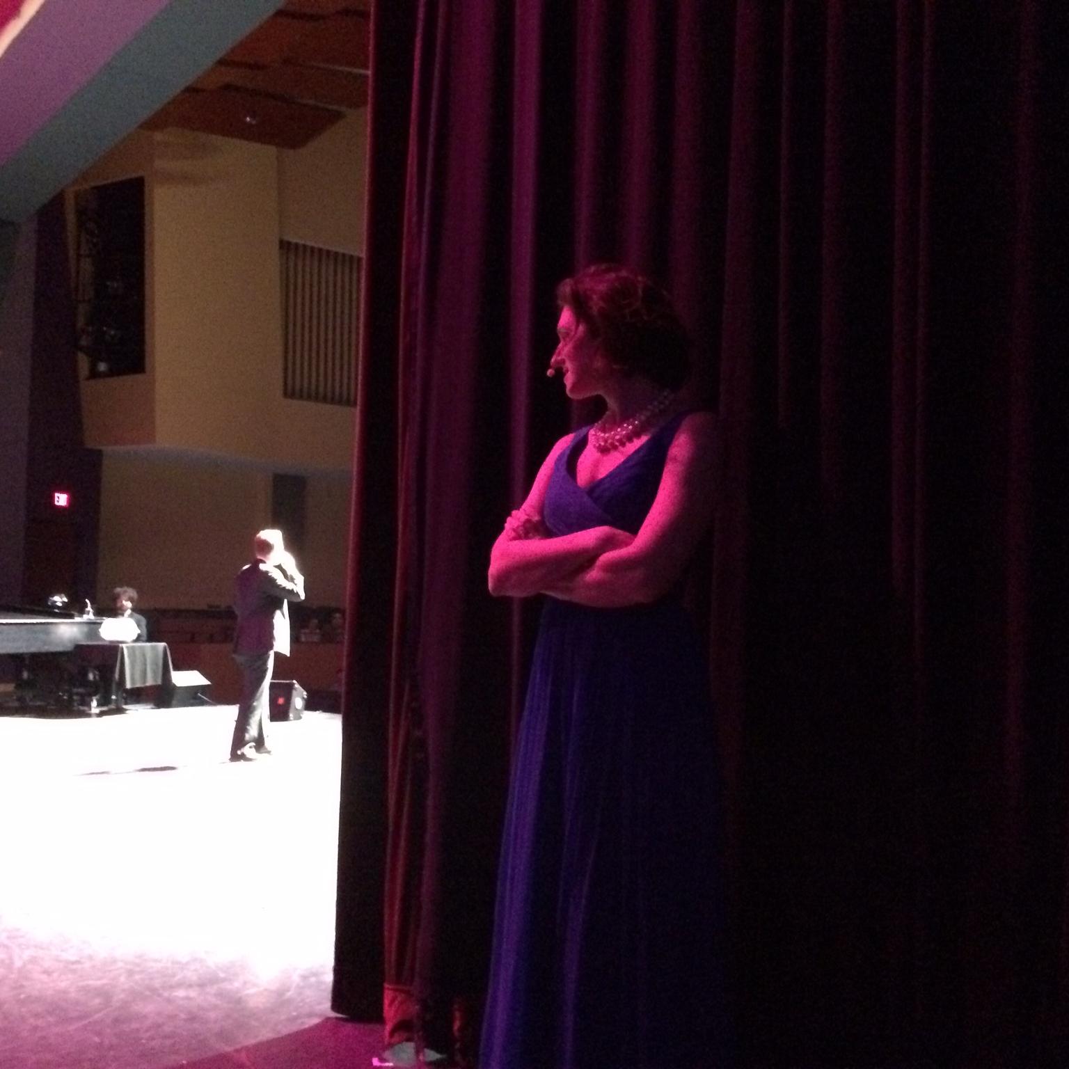 Annie Schiffmann about to go on